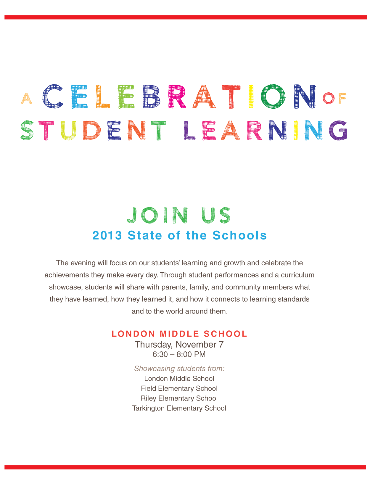 STATE OF SCHOOLS FLYER