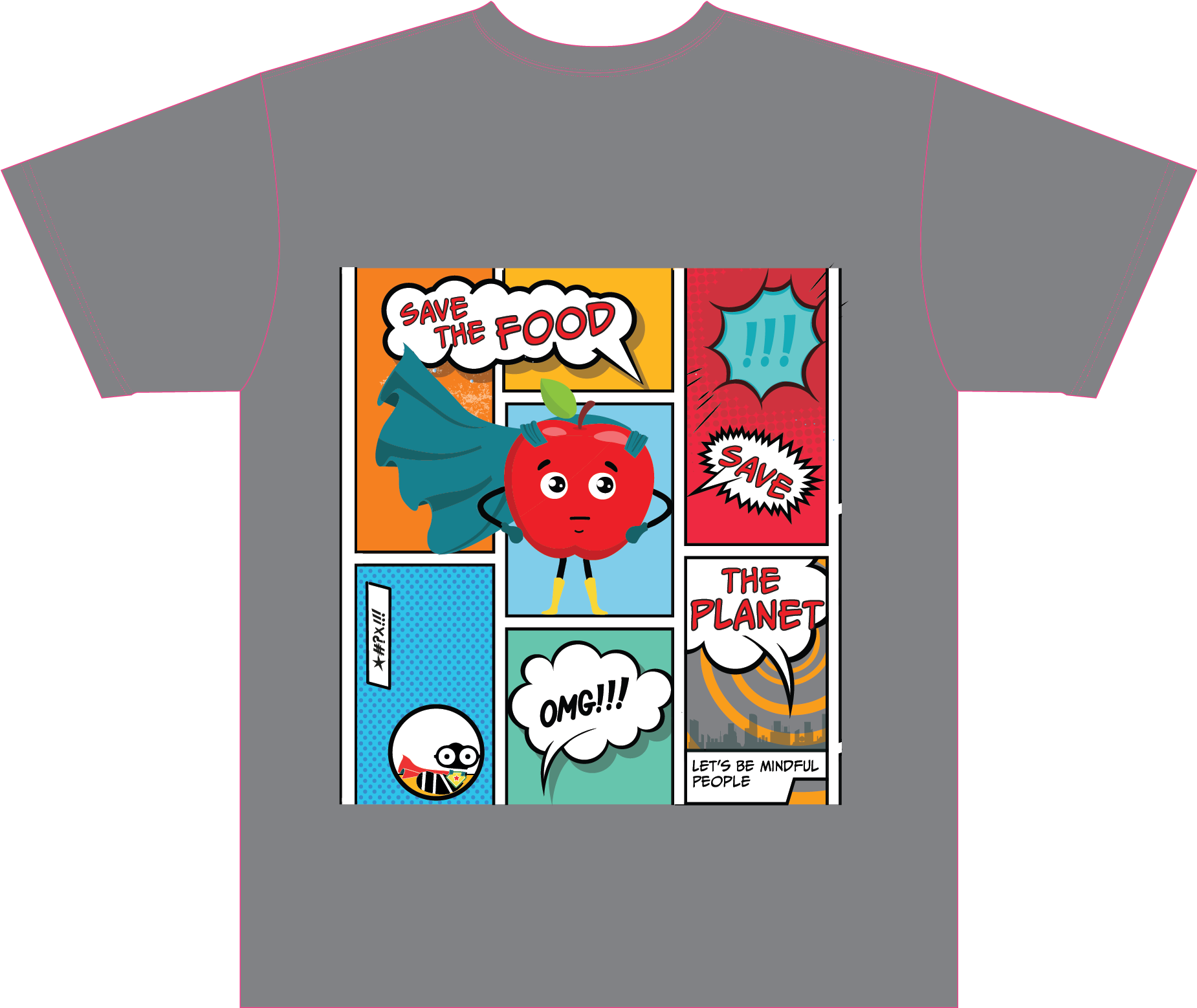 TSHIRT DESIGN  for  Mindful Waste  a non-for-profit. Their mission is to ELIMINATING FOOD WASTE THROUGH EDUCATION, PREVENTION & RECOVERY