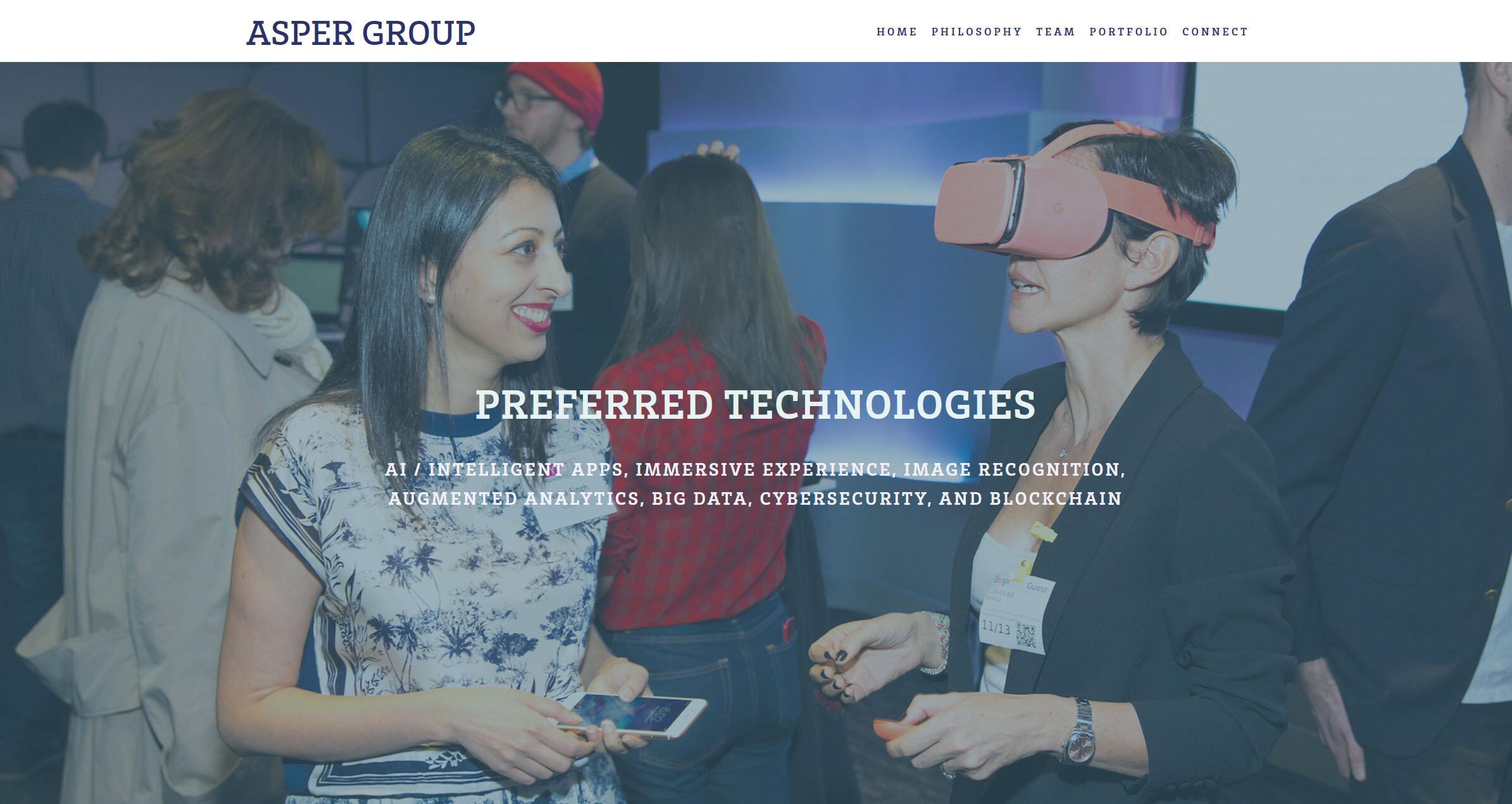Asper Group website design & development