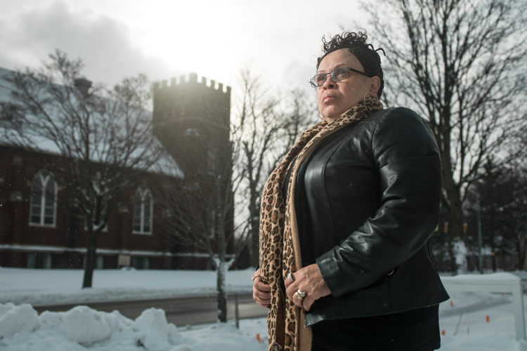 Leslie King, human trafficking survivor and founder of Sacred Beginnings, Grand Rapids' first and only 24/7 victim-led survivor center . Photo by Adam Bird of Bird + Bird Studio.