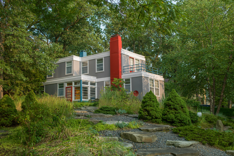 """The 10 Most Interesting Home in Grand Rapids"" - In a city of designers, furniture manufacturers, and architects, the homes reflect the creative and ambitious minds that live within. For almost two-hundred years, Grand Rapids creators have built and maintained unique properties; whether home to influential people or a marvel of design themselves, these are 10 of the most interesting homes in Grand Rapids.Photo by Adam Bird of Bird + Bird Studio."