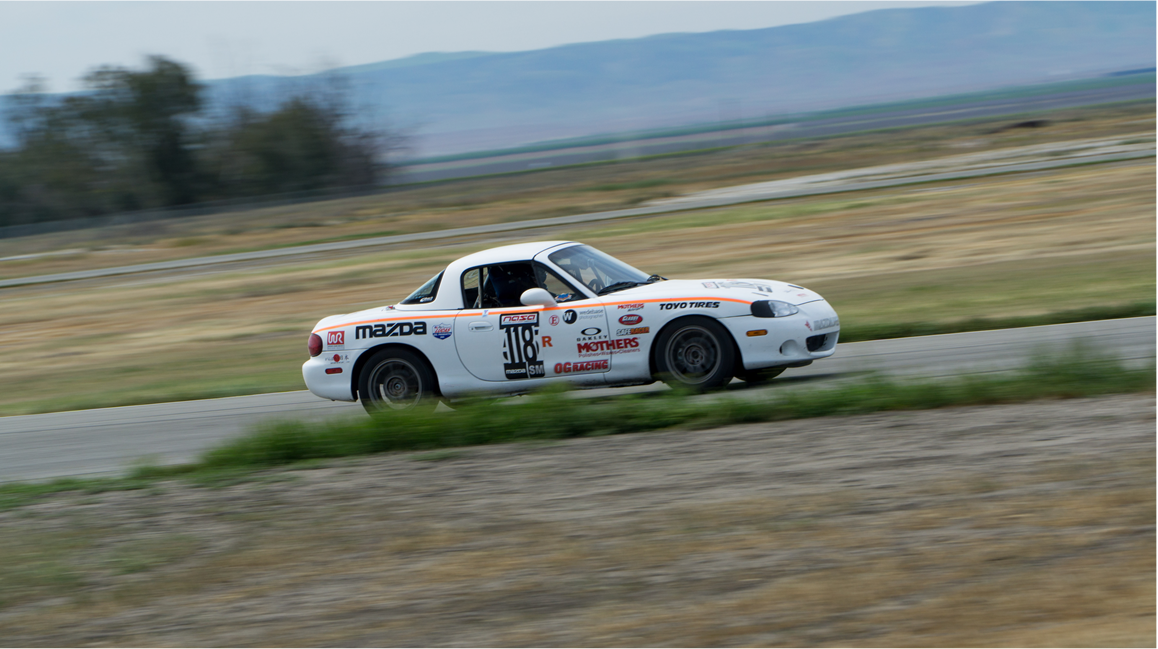 Austin Edward's #118 Spec Mazda Miata: