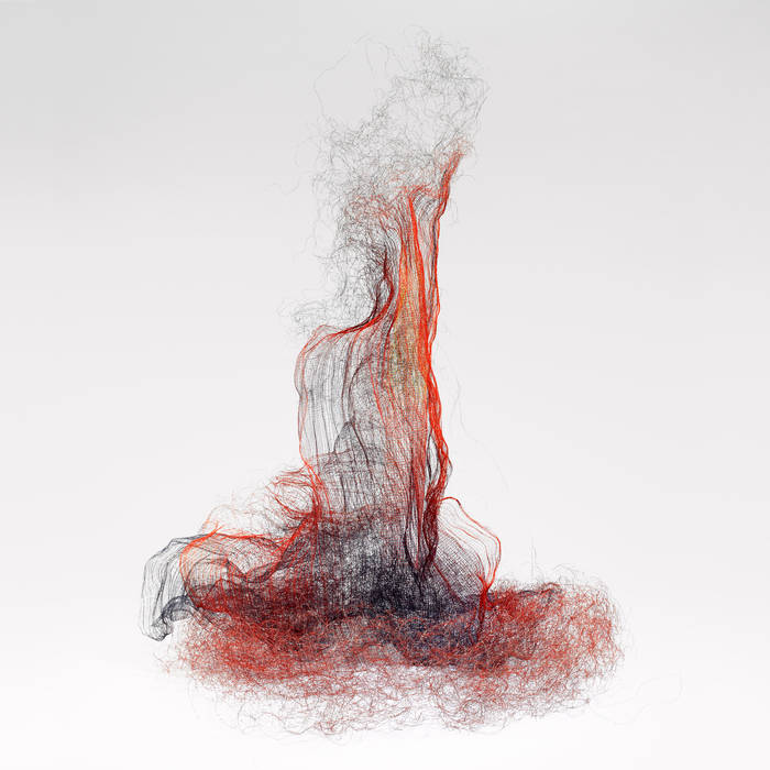 Composer Joshua Sabin, used the image of my sculpture Fire/Storm as the cover of his new album, Sutarti