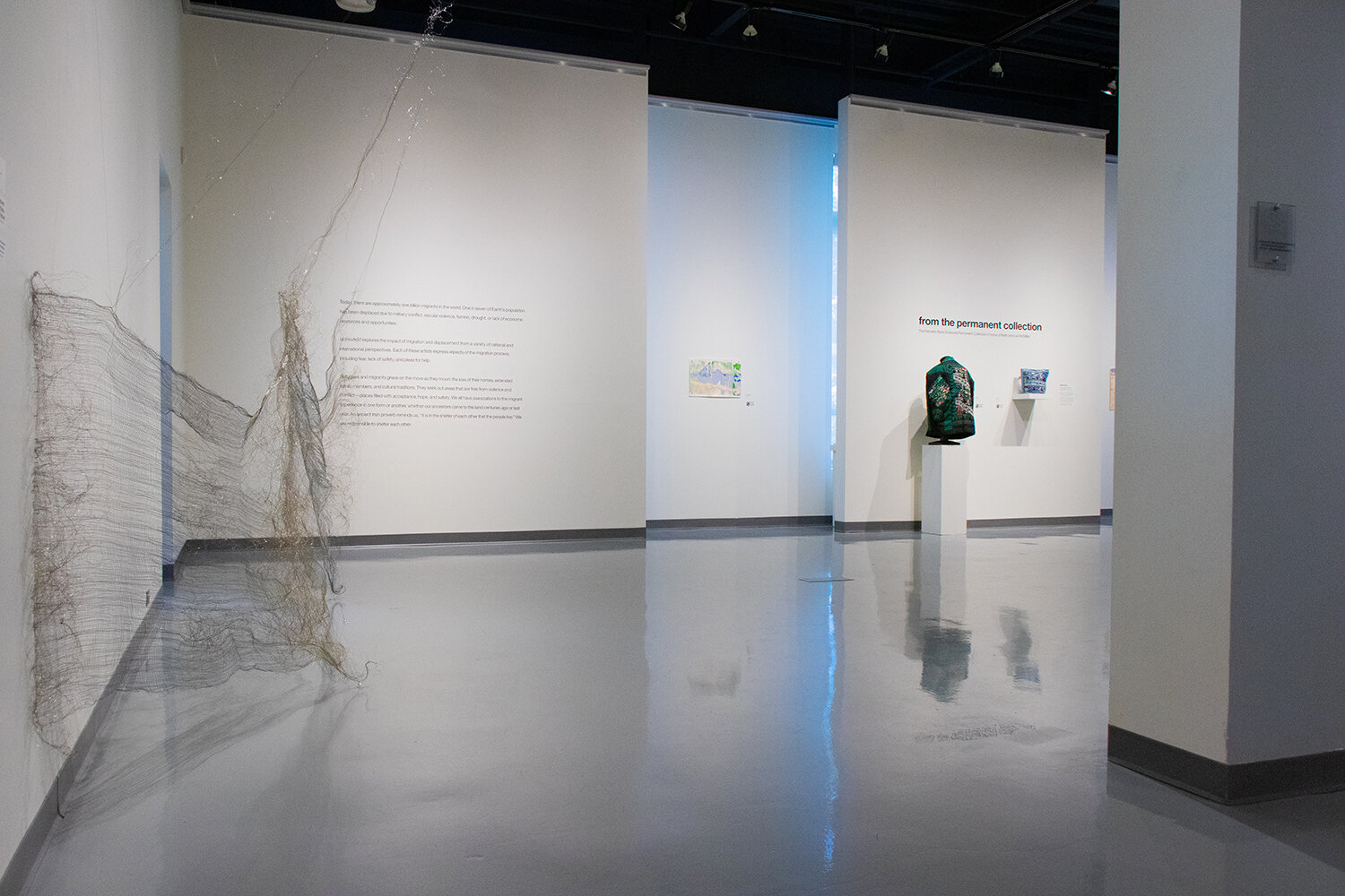 up[route]d - installation view with  Fence © natalie moore                                                      photo ©Spartanburg Art Museum
