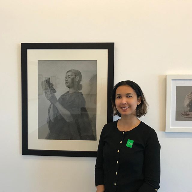 European royalty, Rodin and a portrait of my sweet @rechy03 at the @maryhillmuseum Such a nice experience to share space with contemporary and classical masters. #art #portrait #pencil #museum #guatemalan #artist #roadtrip