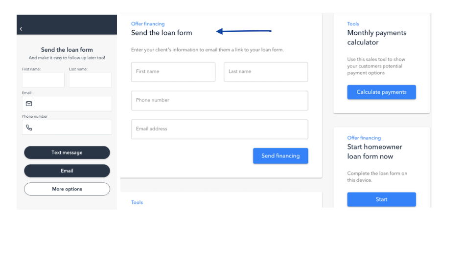 You can send the loan form directly from your Hearth app or web dashboard.