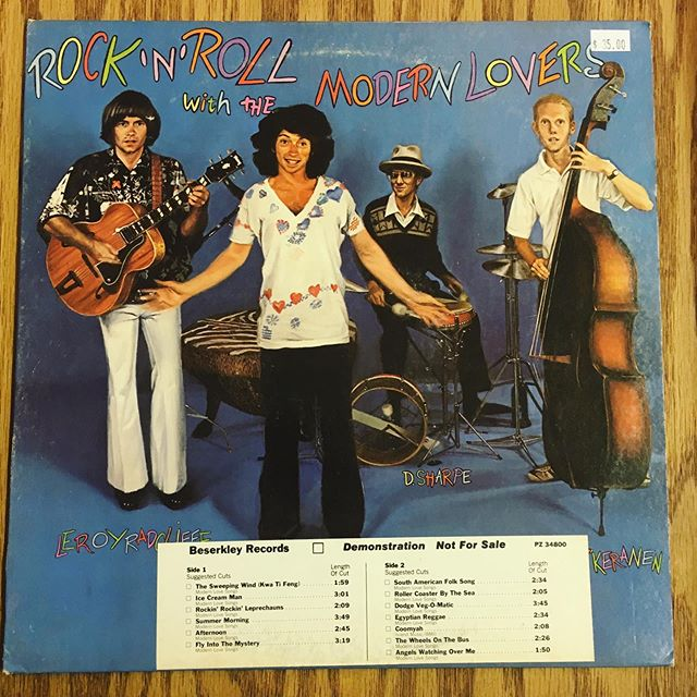 Unplayed promo just in. Iv been told I remind people of Jonathan Richmond. I've also been told he's an asshole. 🤷♂️ #vinyl #records #modernlovers #jonathanrichmond #promo #recordstores #beserkley #recordsforsale #newhaven #ct #elmcity #buyrecords #lovevinyl