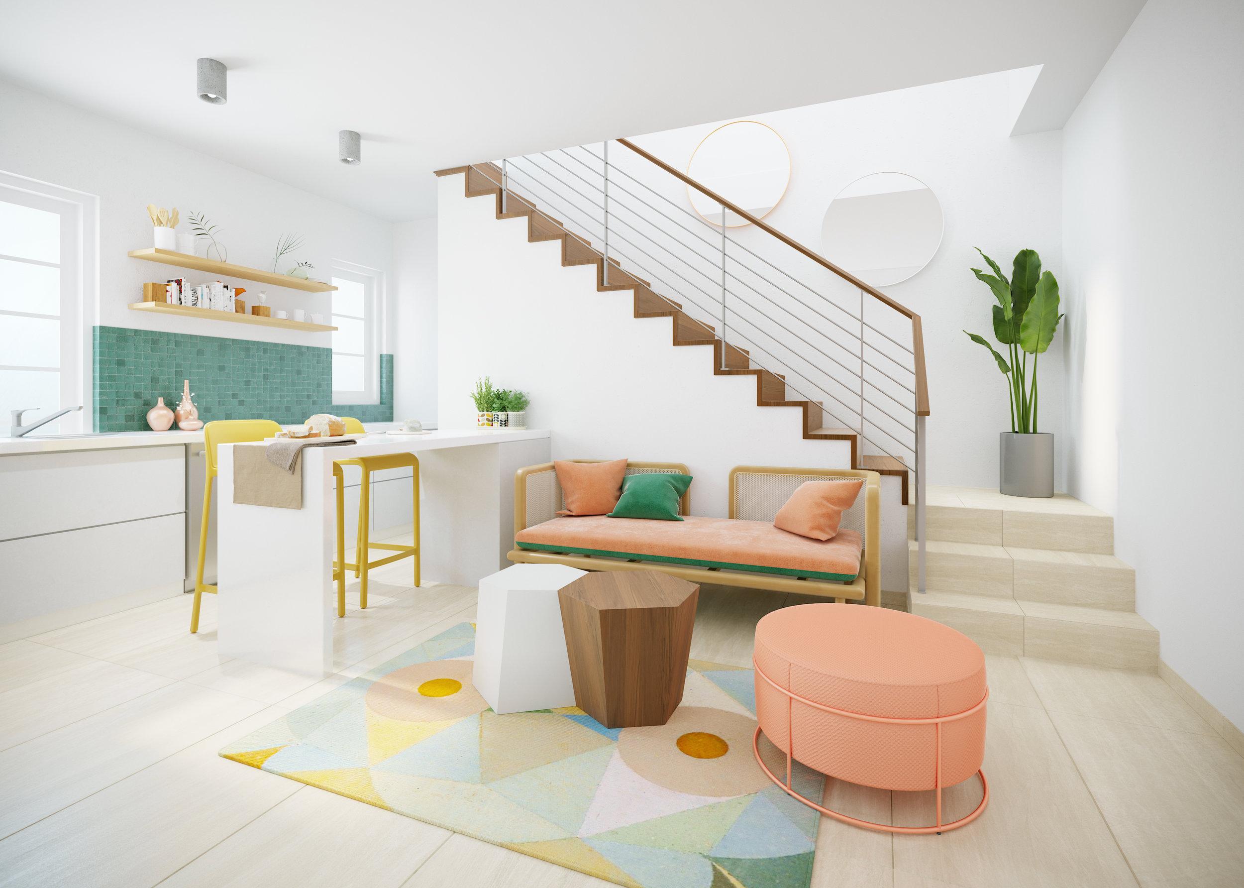 Living Room - Apartment A110