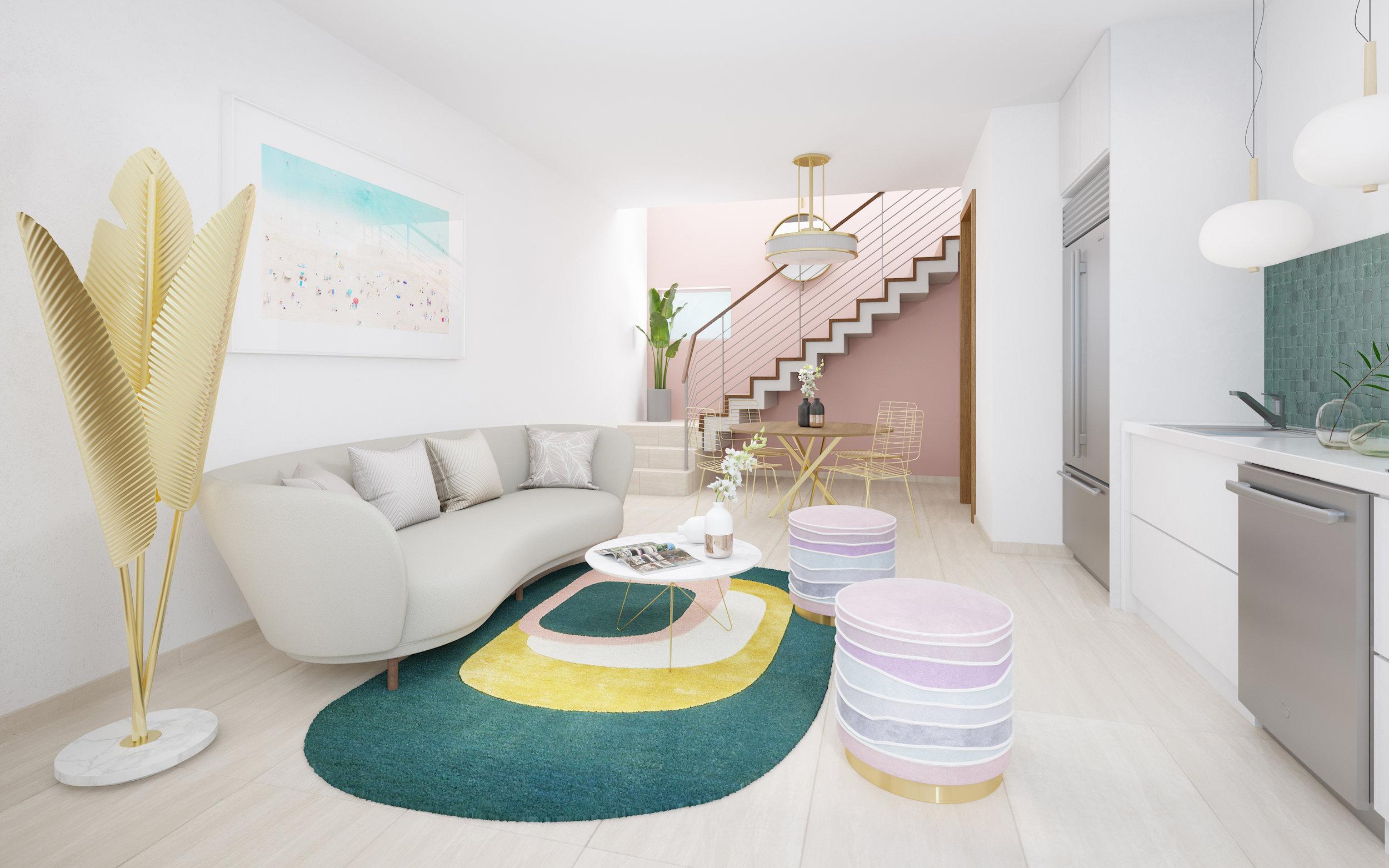 Living Room - Apartment C104