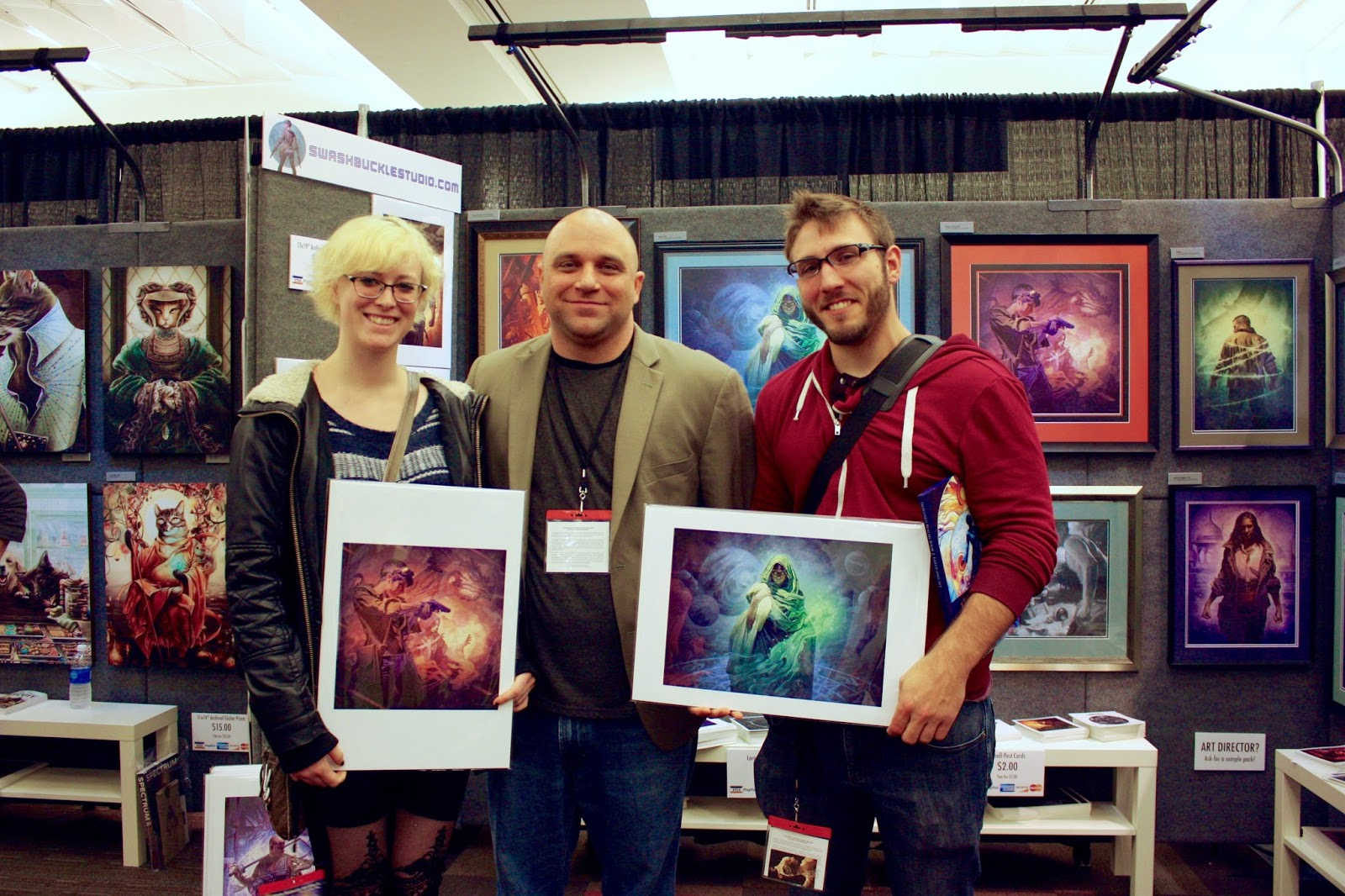 A couple of happy customers.  These guys were so awesome to chat with!
