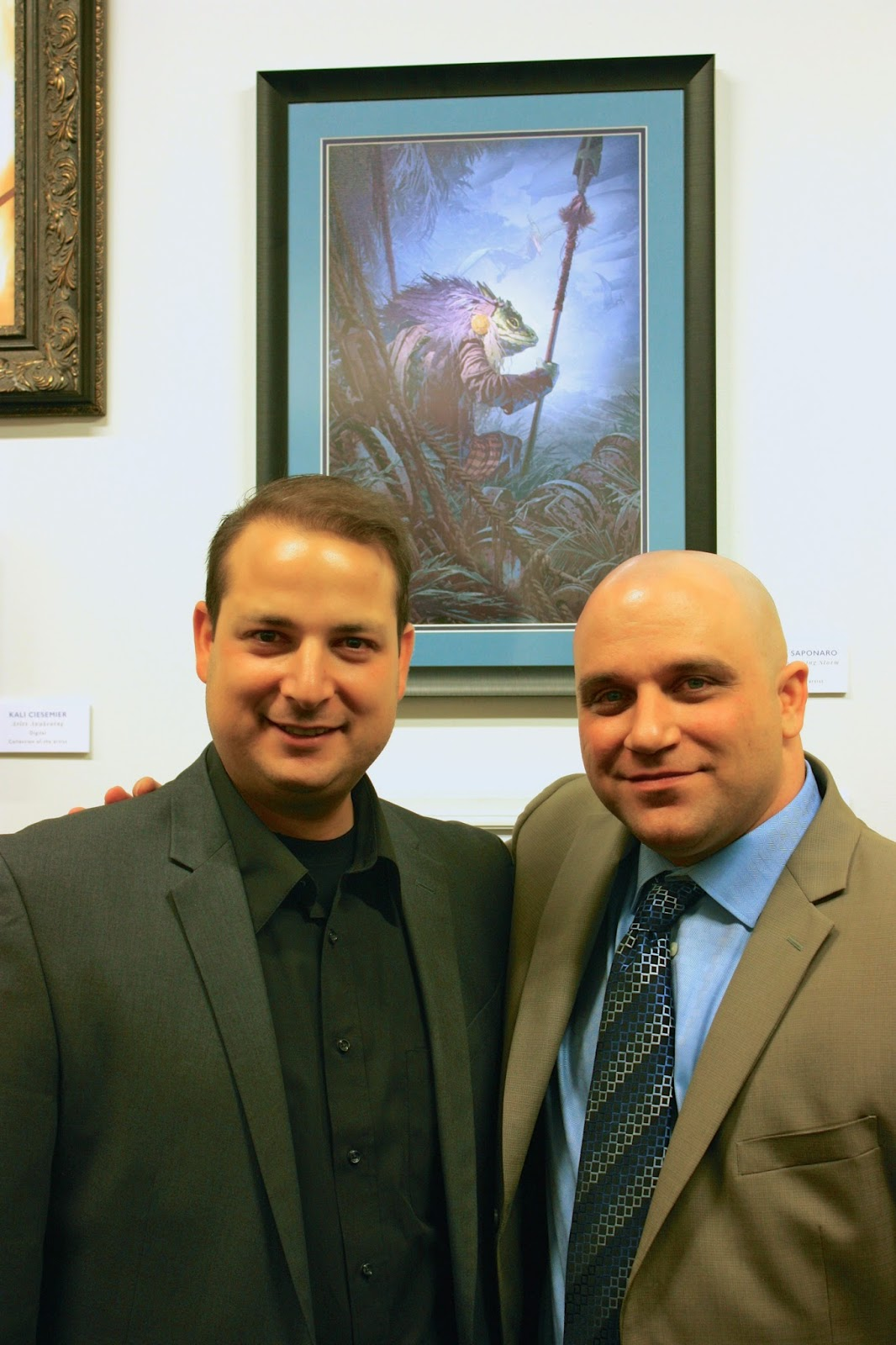 Art director Matthew Kalamidas and me in front of my painting. This is the guy that really deserves the credit. An awesome art director that knows how to get the best out of his artists!