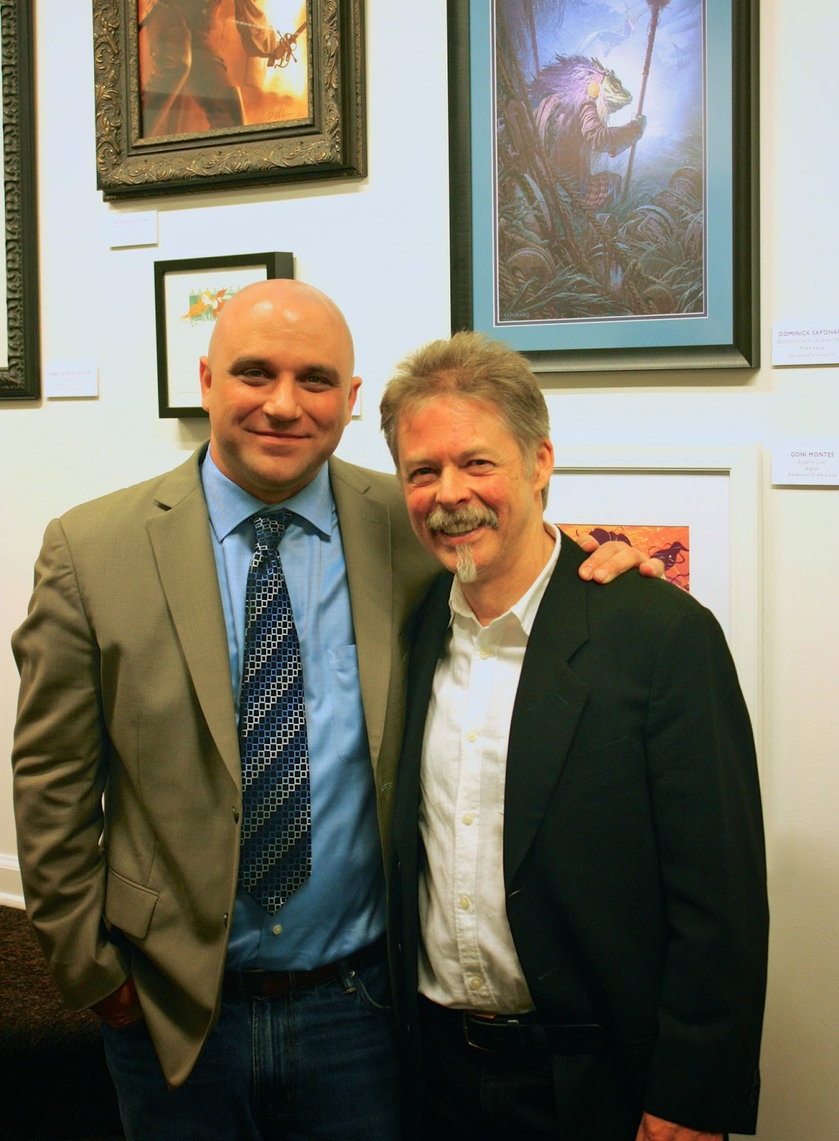 Me and Greg Manchess. The hardest working AND nicest guy in illustration today! Can't thank him enough.