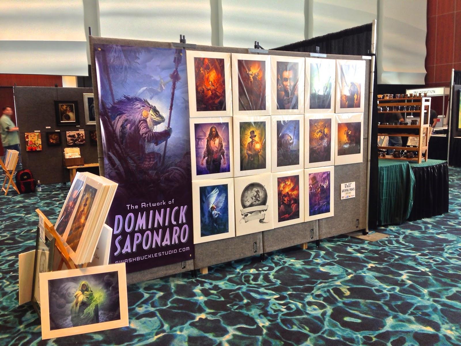 My print wall and Destroyermen III banner.