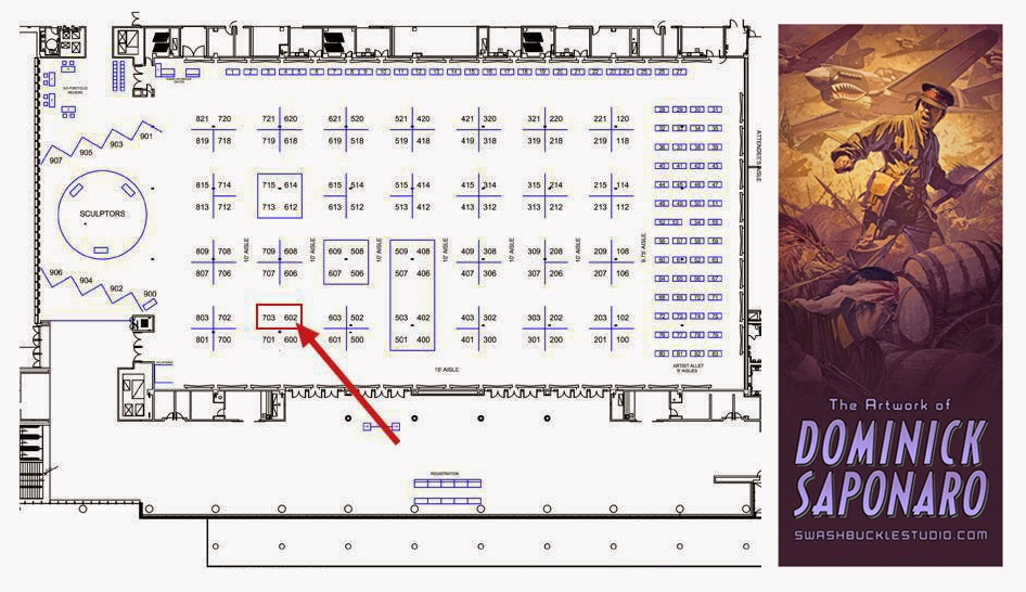 The convention center Layout.  I'll be in adjacent booths 703 & 602.