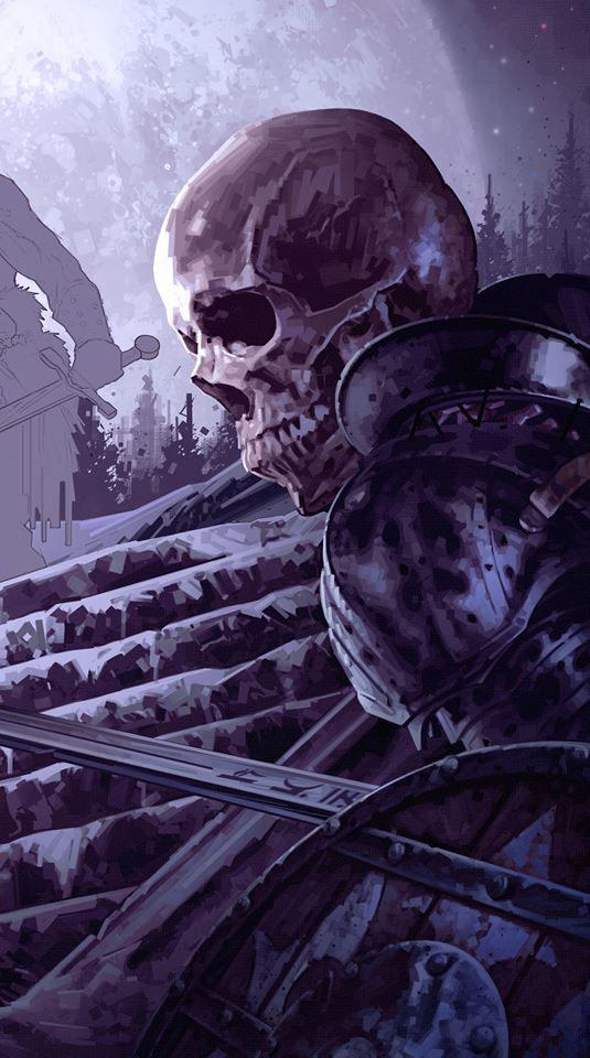 Dominick Saponaro - Walking Dead In Progress Book Cover Illustration.jpg