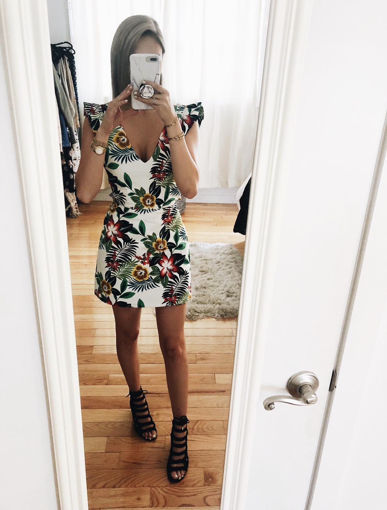 Recreate the Look: - Romper Dress: ZaraWrap Around Watch: Michael KorsShoes: Franco Sarto