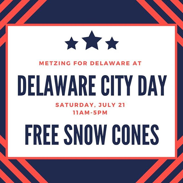 Come visit my booth at Delaware City Day and get a free snow cone! I along with supporters will be walking in the parade - if you would like to walk with us comment or message me!