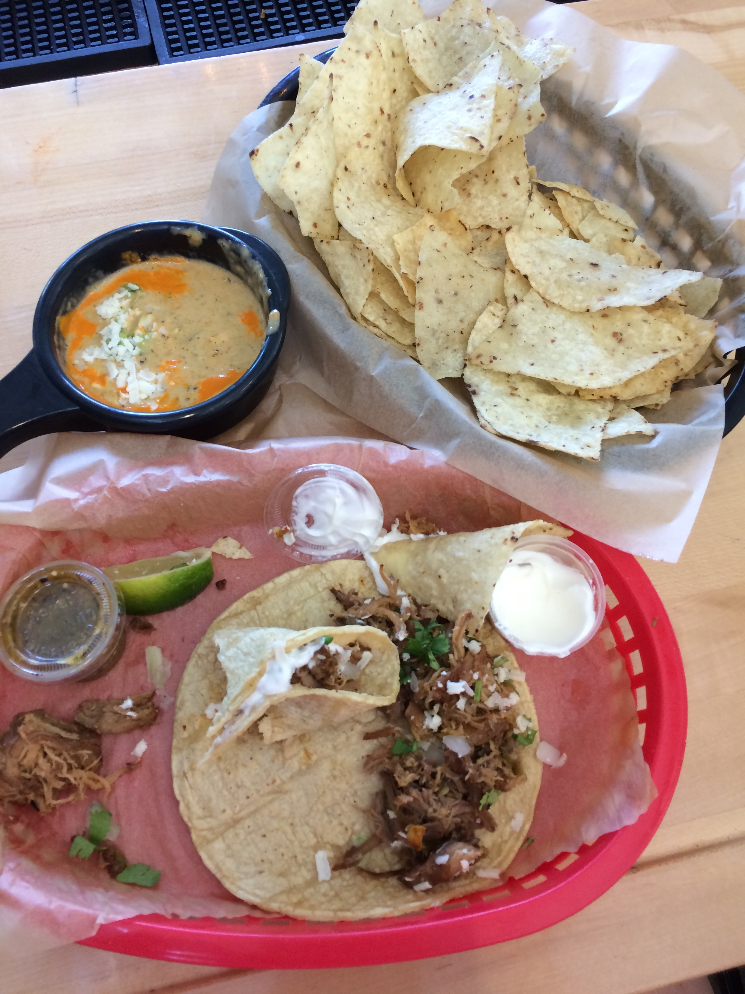Torchy's Tacos - This was a recommendation from my Uber driver, but Oh My Goodness, was it delicious! The queso was amazing and definitely worth all the hype! I ended up picking the green chile pork taco and it was so good! I'm normally a traditionalist when it comes to my tacos - ground beef, lettuce, tomato, cheese, and sour cream, but these had such great flavor and the pork was perfectly cooked! HIGHLY RECOMMEND the South Congress location too, since its so close to everything!