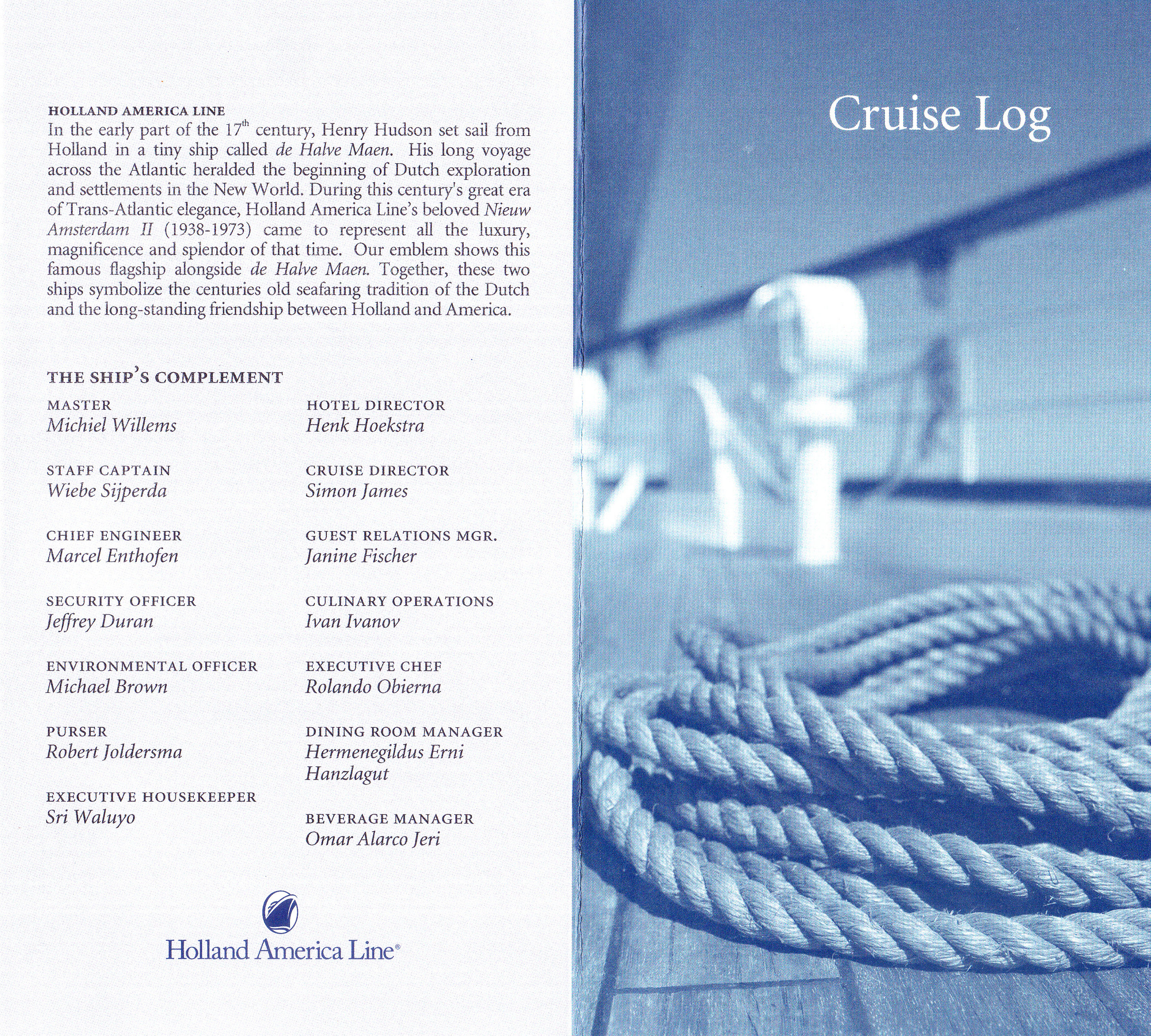 Cruise Log