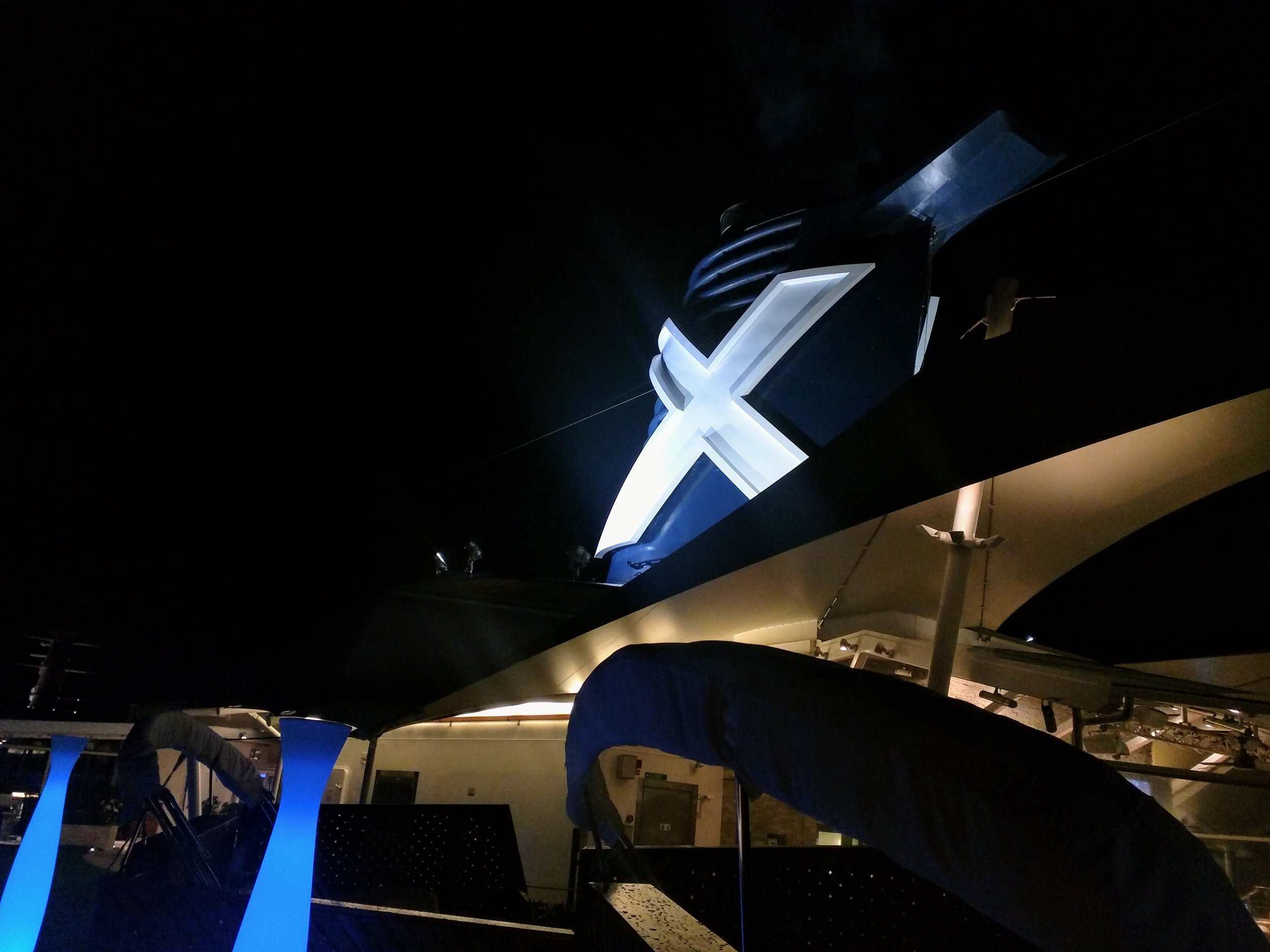 Celebrity Silhouette Smoke Stack with Signature X