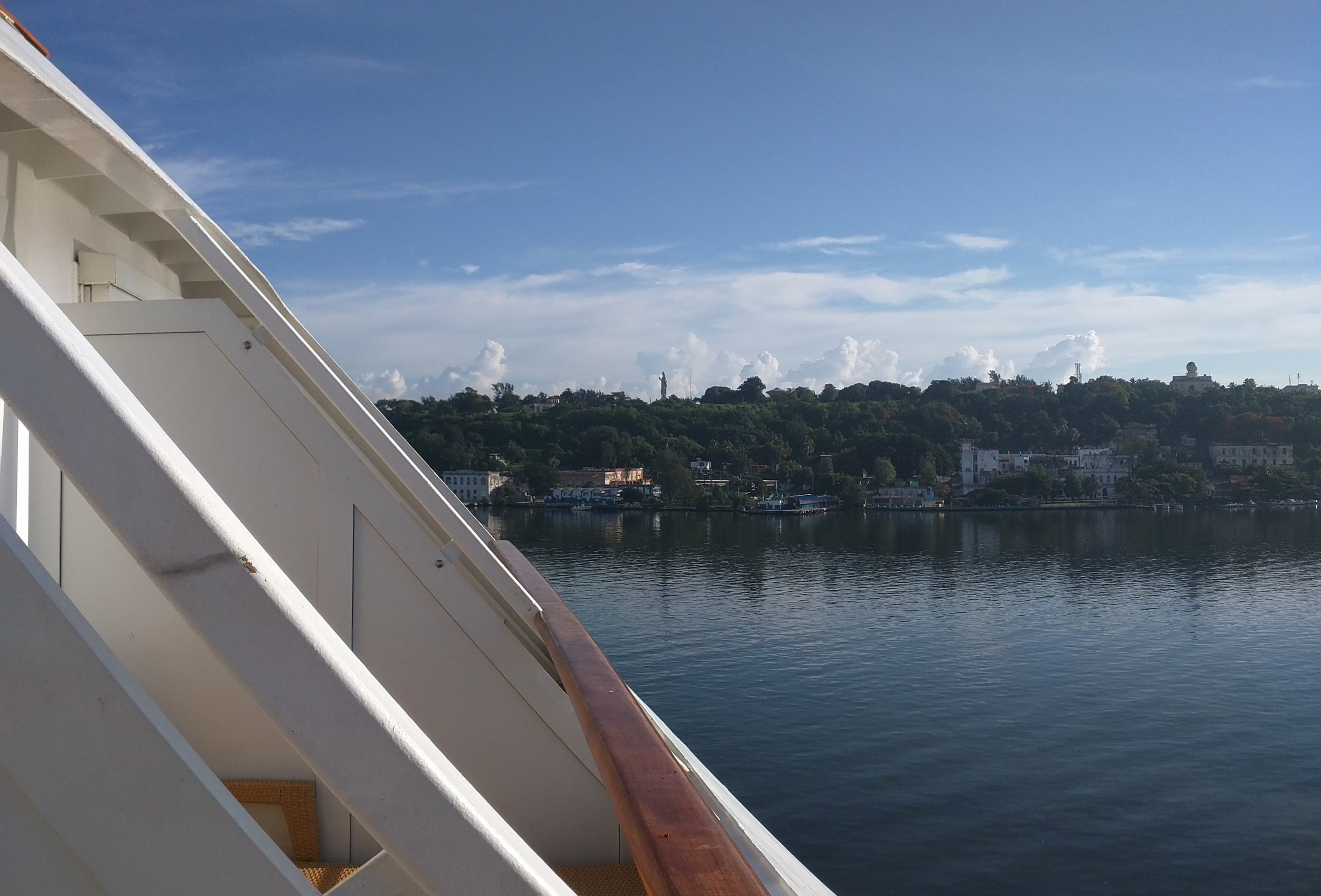 View of Cuba from Aft Balcony
