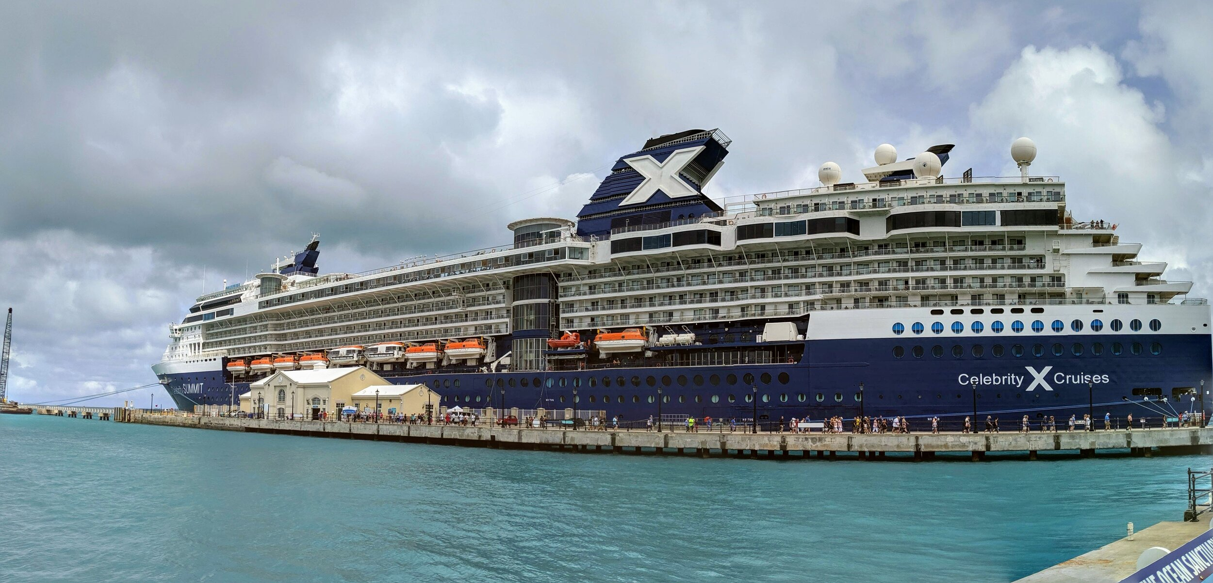 Celebrity Summit docked in King's Wharf, Bermuda.