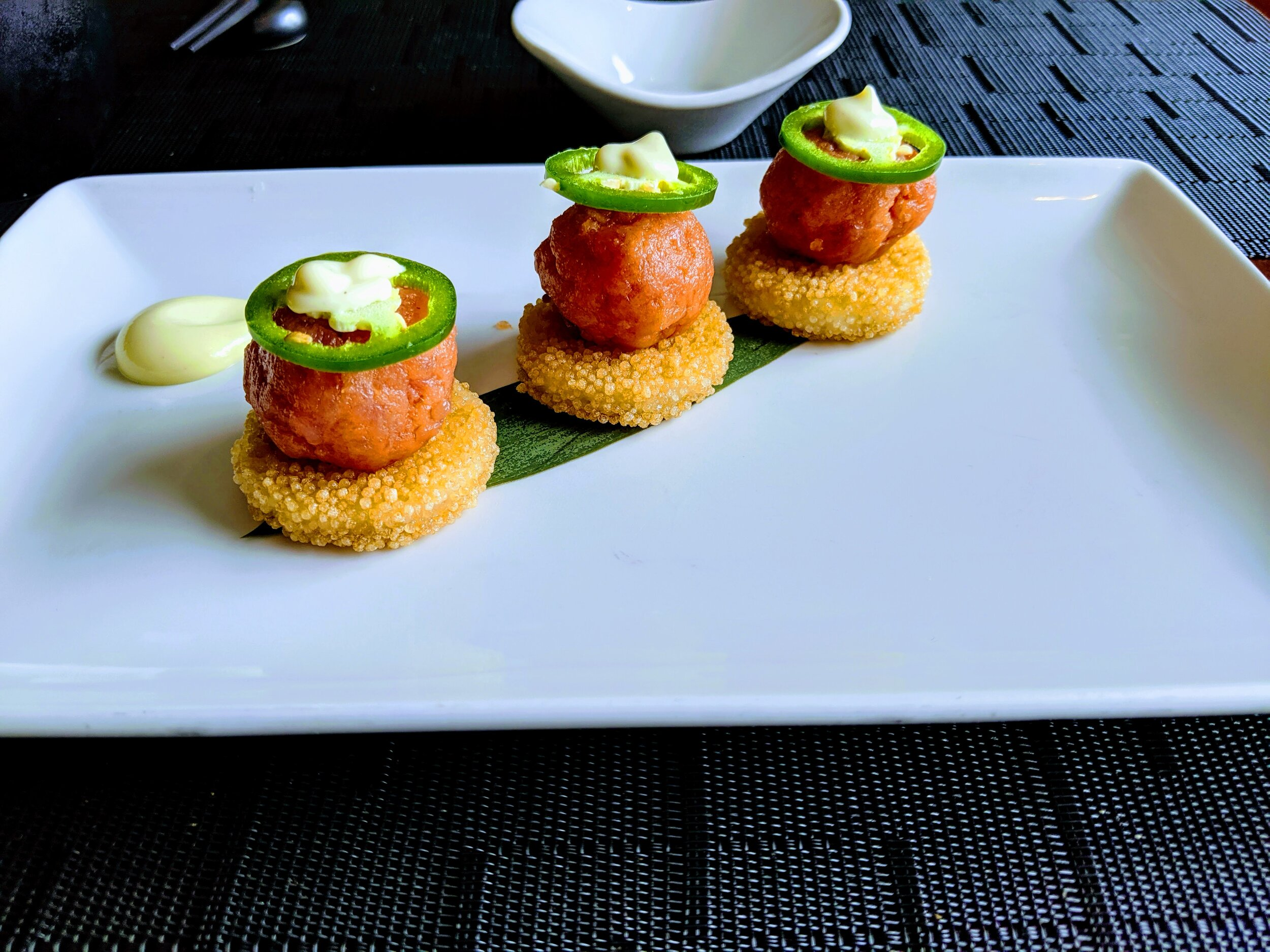 Recommended: Spicy tuna appetizer at Sushi on 5.