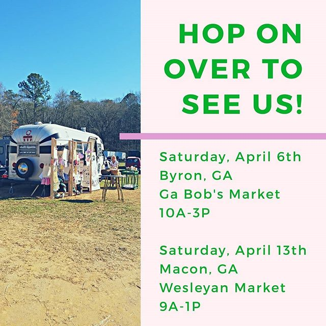 Hippity hop on over to see us the next two weekends! Lots of Easter goodies, Derby party loveliness + generally fab finds. (We ship all over!) . . . #partysupply #easter #popupstore #shopthetrailer #thingstodoinmacon #macongashopping #maconga #byronga #thingstodoinbyron #byrongashopping #middlega #easterdecor #tabledecor #easterparty #cocktailparty #derbyparty #kentuckyderby #kentuckyderbyparty