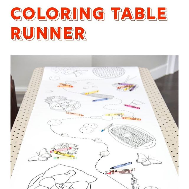 Don't just bring the deviled eggs to #easterdinner, bring our coloring table runners and delight your smallest guests! Designs include Bunnies, Picnic and Flowers. Now available online, link in bio. ($30 shipped or $22 pickup.)