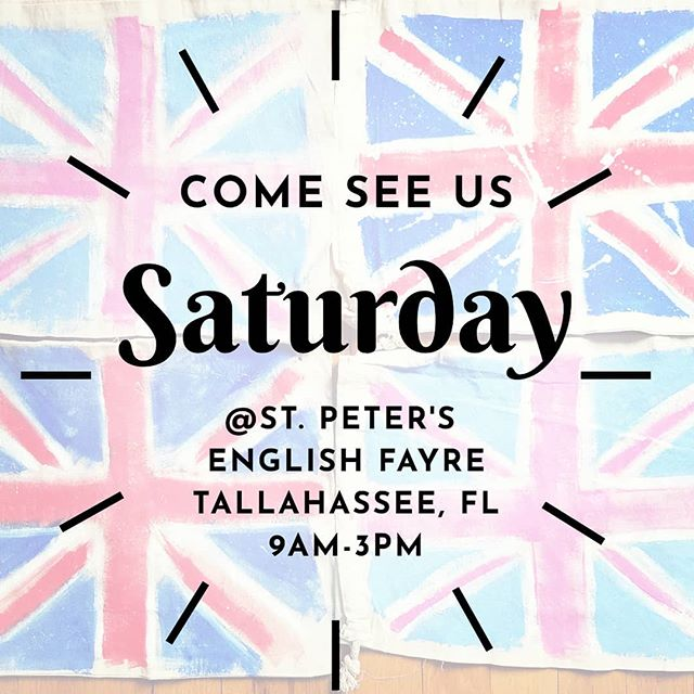 Tville and Tally friends, come see us this Saturday! There will be food trucks, crafts, kids activities, shopping, a double decker bus and a pub tent 🍻🇬🇧 . . . #englishfair @stpetersfl #pub #pimmscup #makemineadouble #thingstodointallahassee #tallahassee #popupstore #popupshop #shopthetrailer #campershop