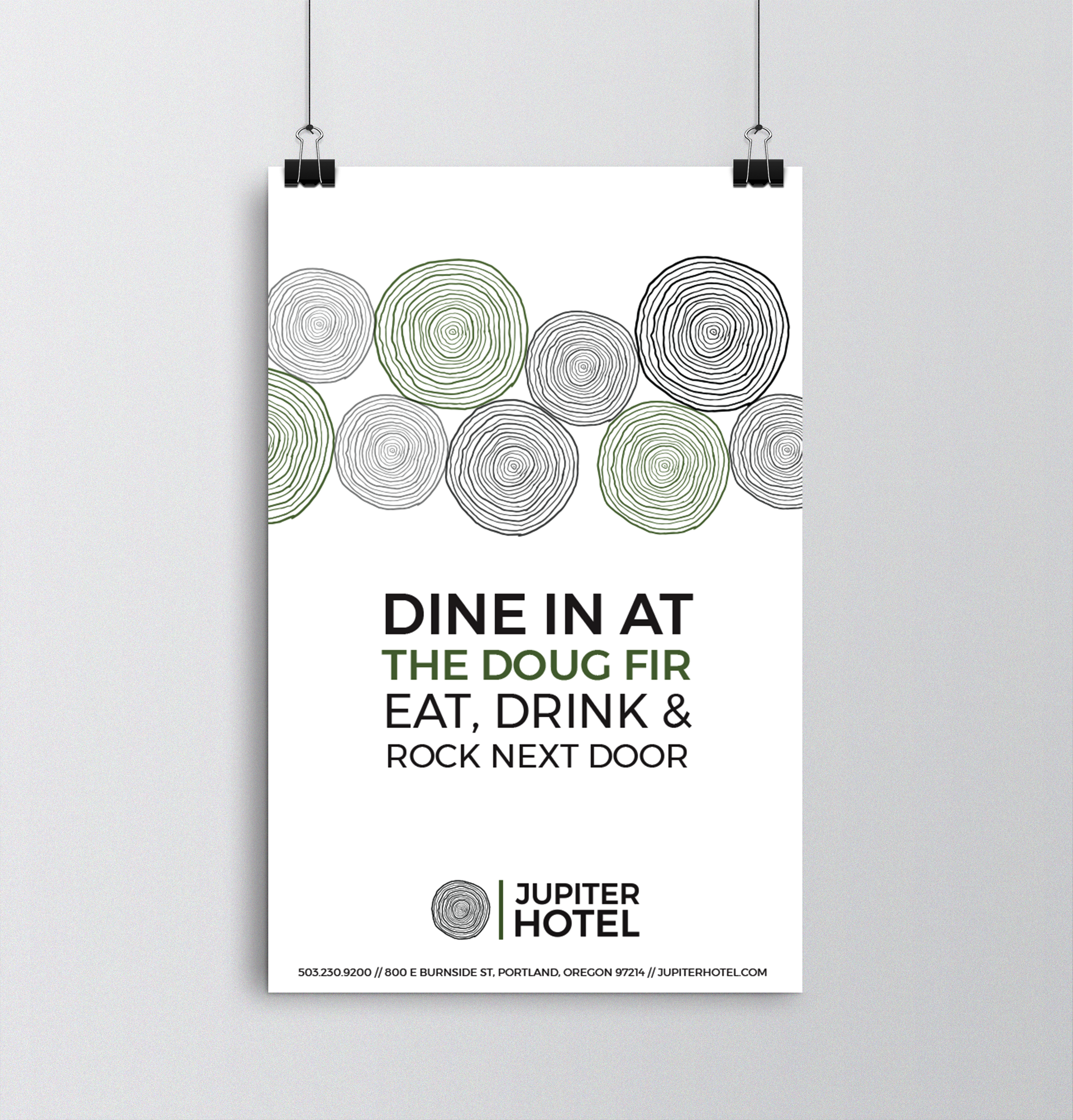 """""""Dine at Doug Fir"""" large format poster"""