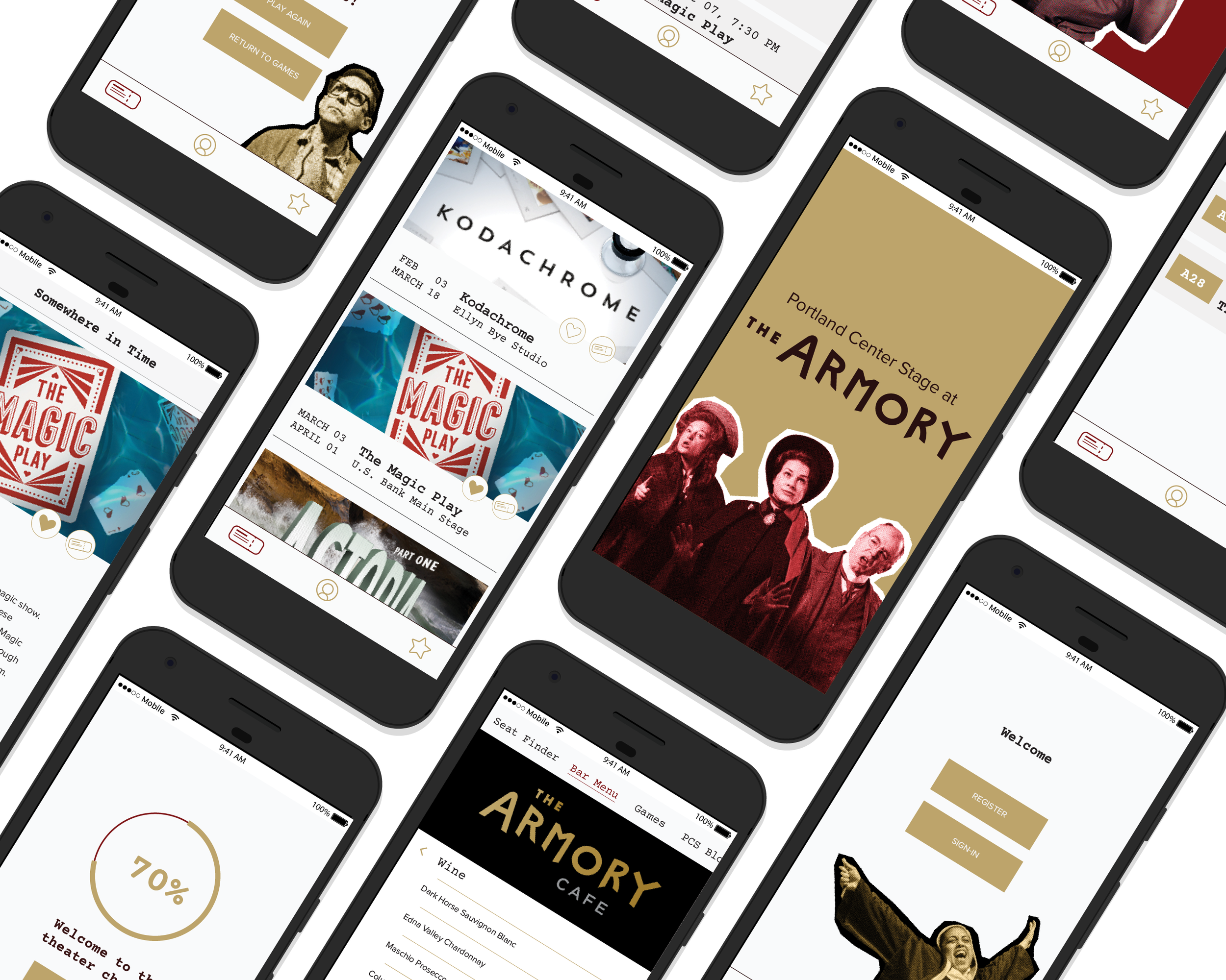 PORTLAND CENTER STAGE - MOBILE APP DESIGN