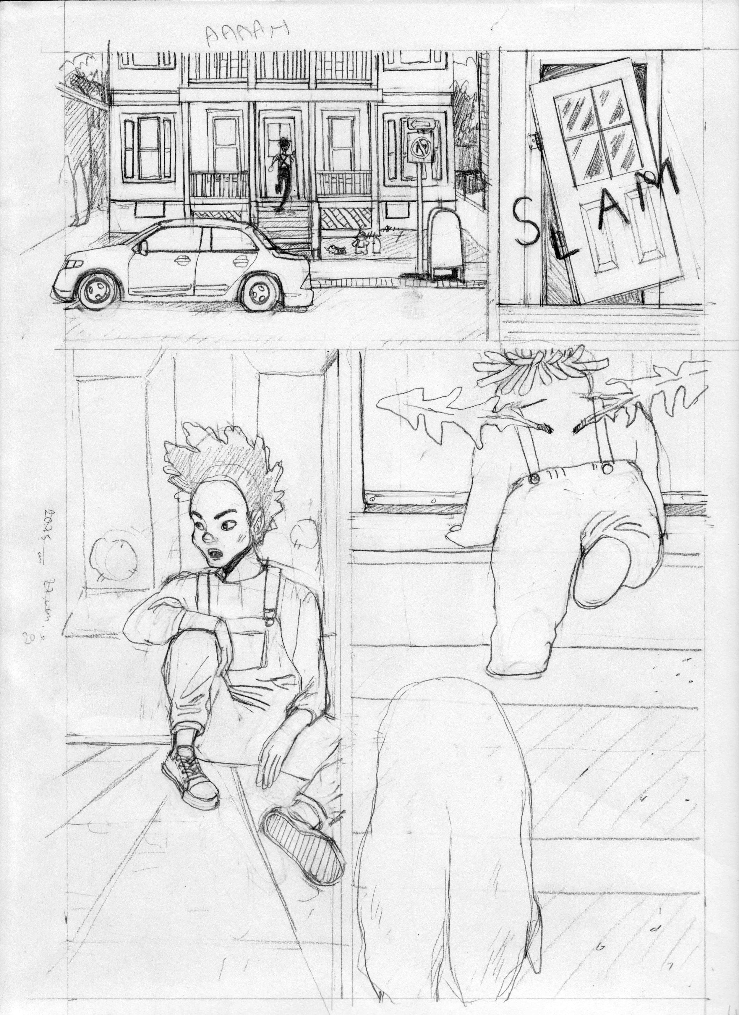 Unwanted Pencils 2018   Story by Sunny Ôchumuck  neepawus.tumblr.com   Inks by Shaina Lu  shainadoesart.com
