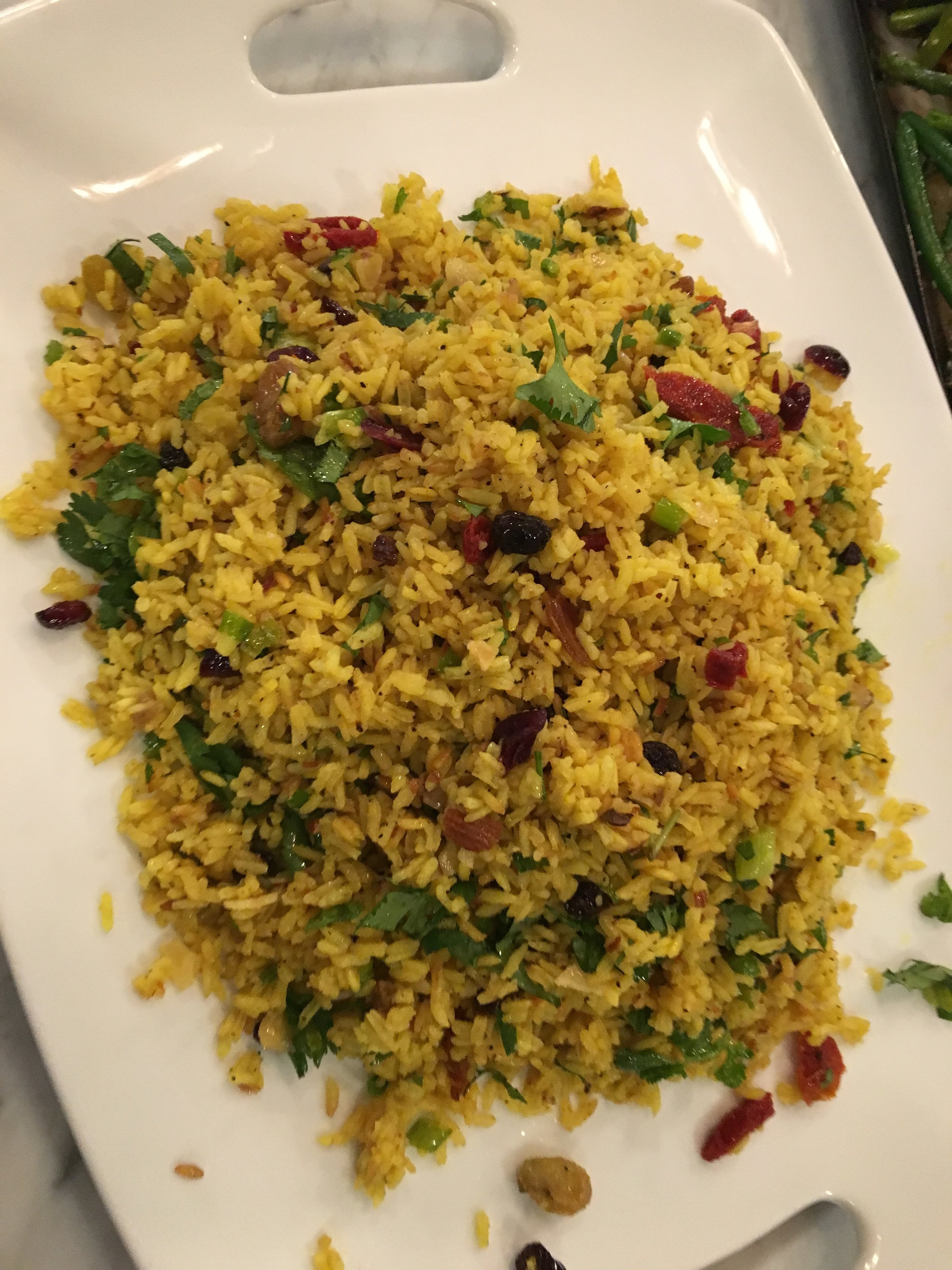 Yellow Rice W Dried Fruit & Herbs