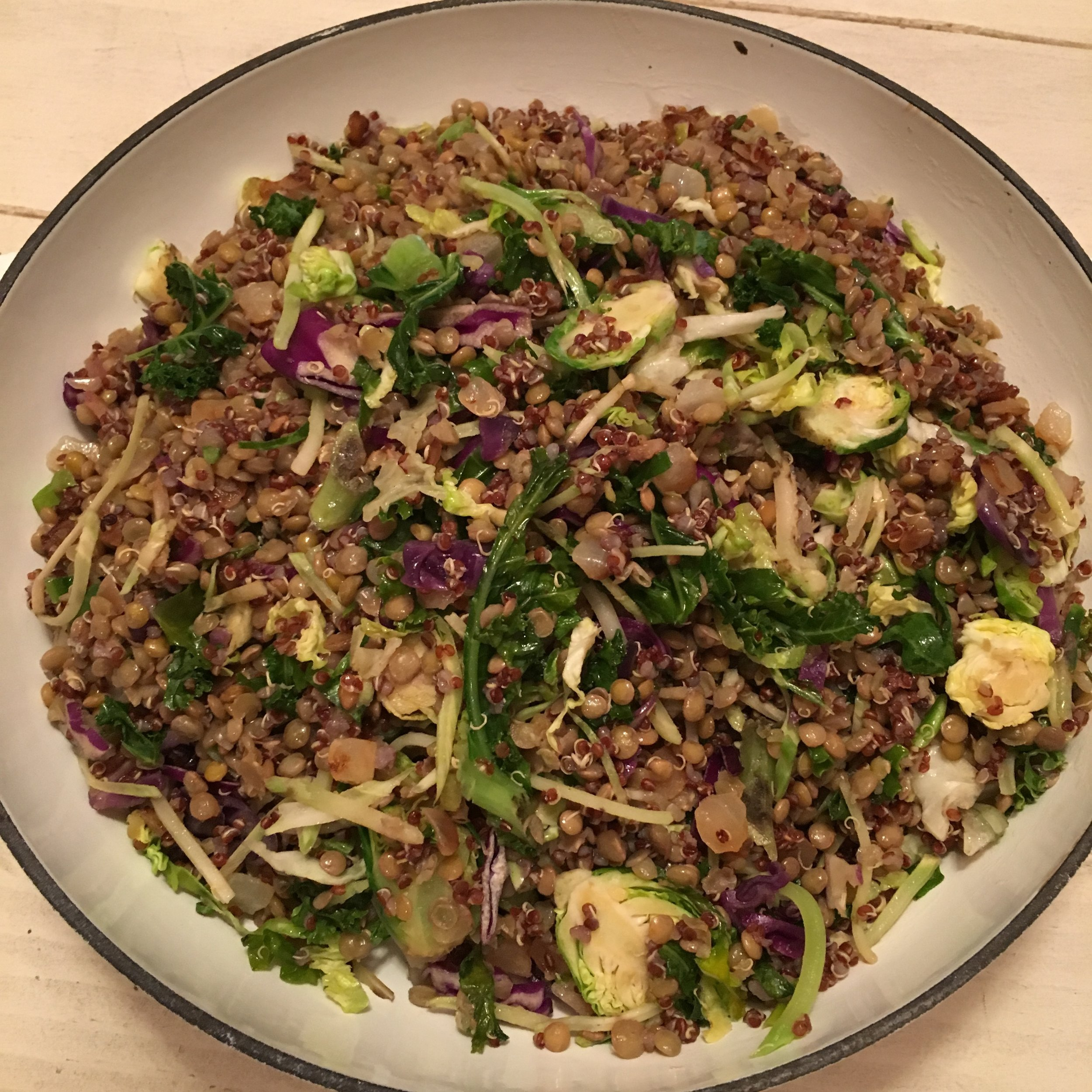 Lentel, Cous-Cous, Brussels & Cabbage W herbs