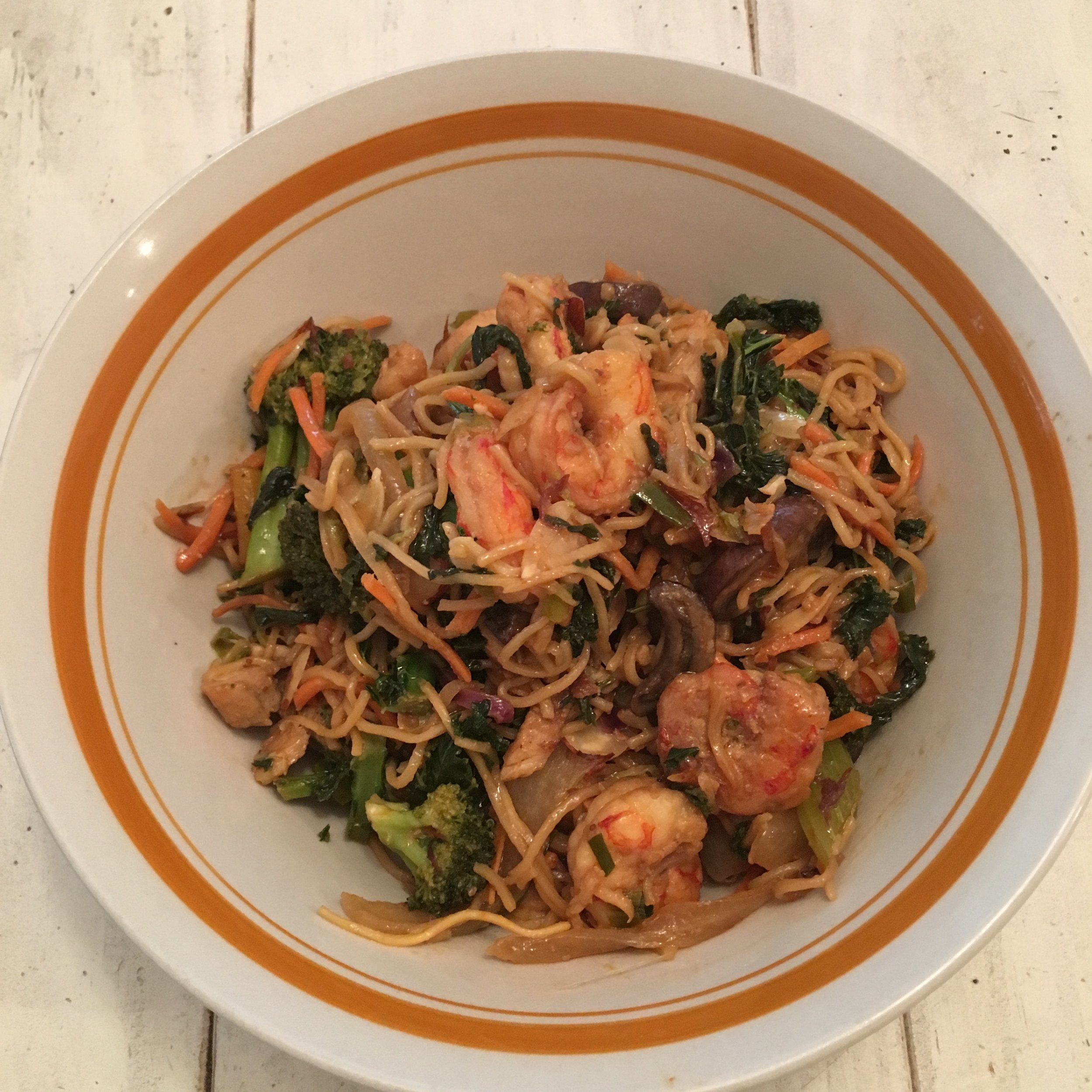 Chicken & Shrimp Chow Mien