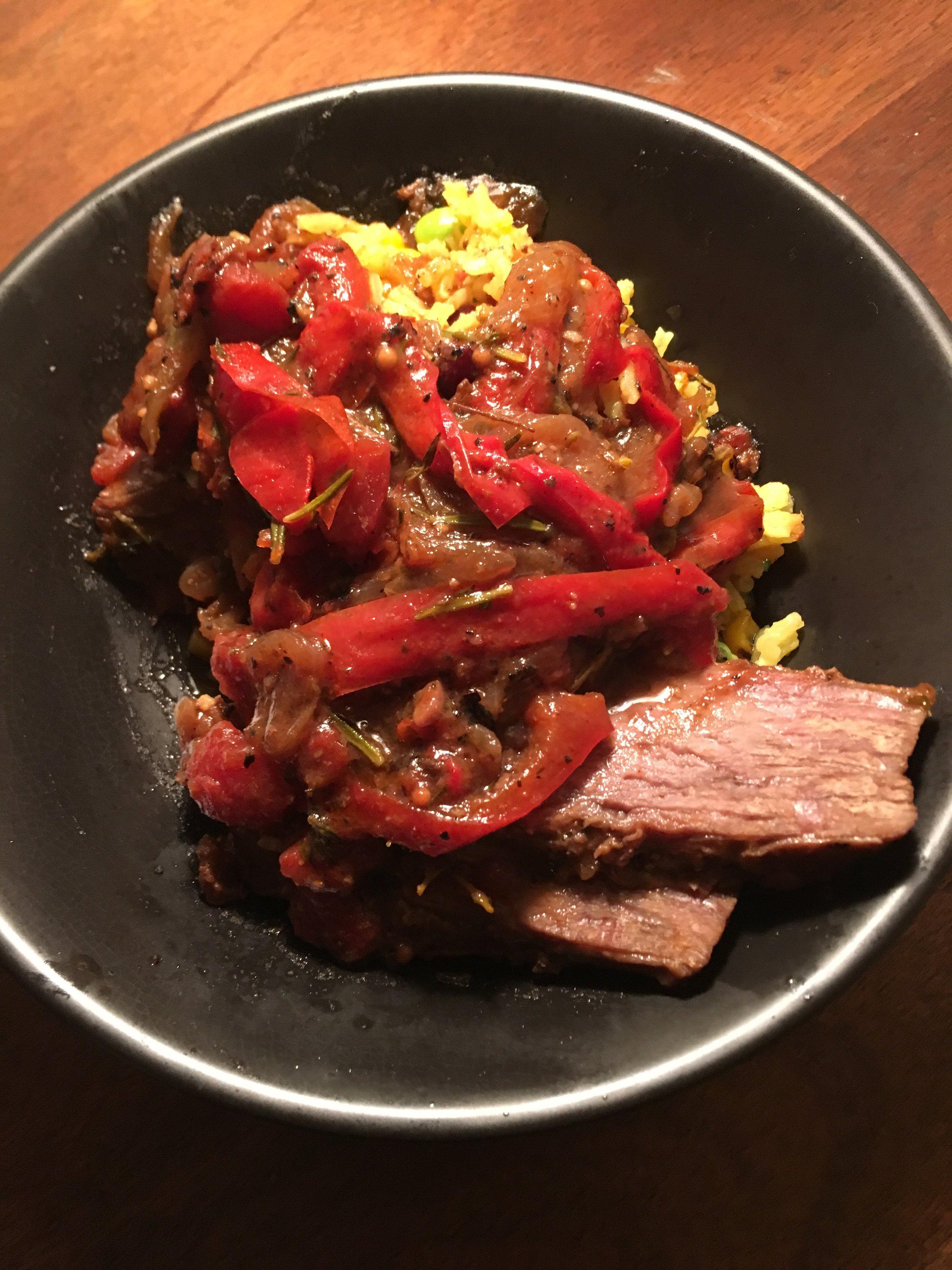Saffron Rice W Brisket Ragu