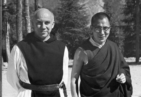 Thomas Merton and the Dalai Lama (from The Thomas Merton Center, Bellarmine University)