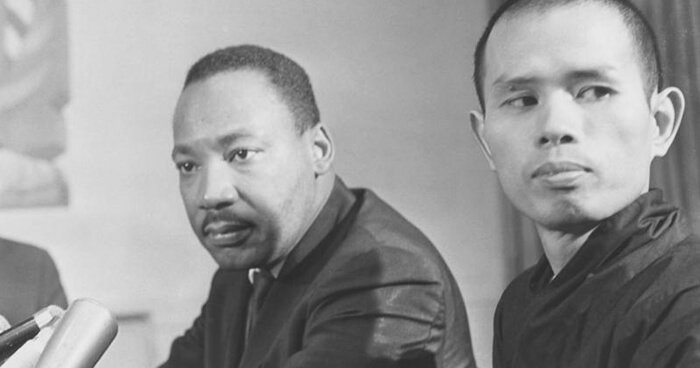 (Photo: Unknown) Thich Nhat Hahn and Martin Luther King, Jr.