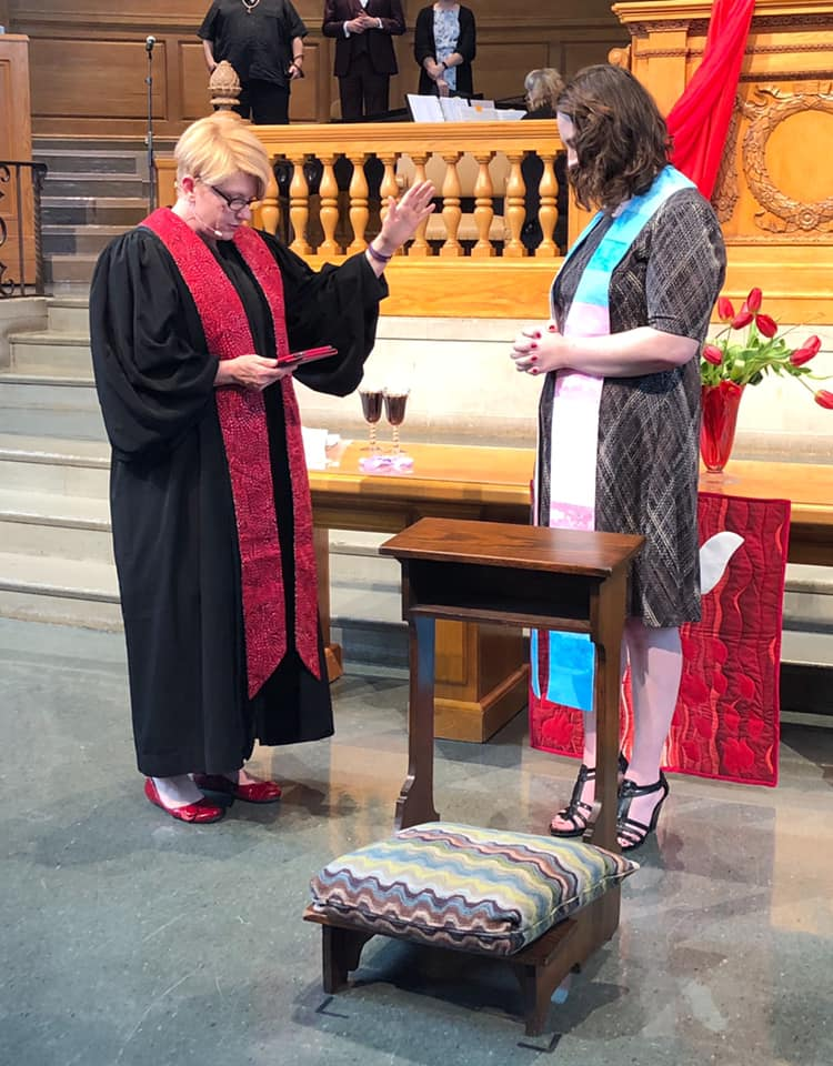 Rev. Saunders' Ordination Service