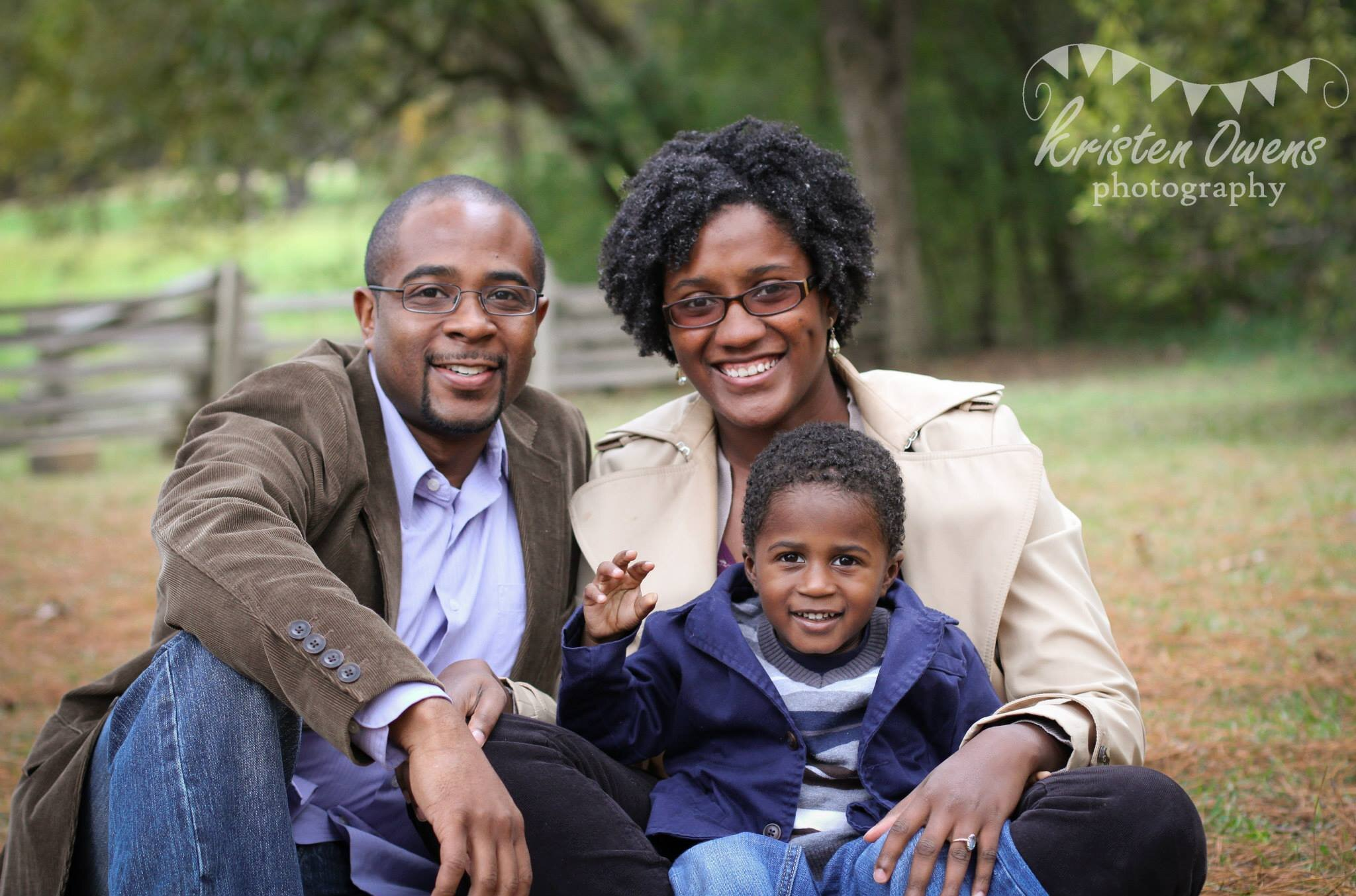 Janeé with her husband, Jemar, and son, Jack (Photo by Kristen Owens)