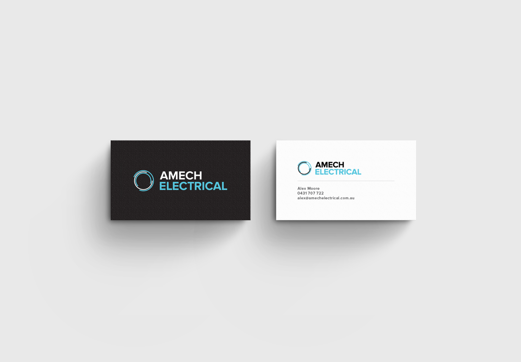 business card design for electrician