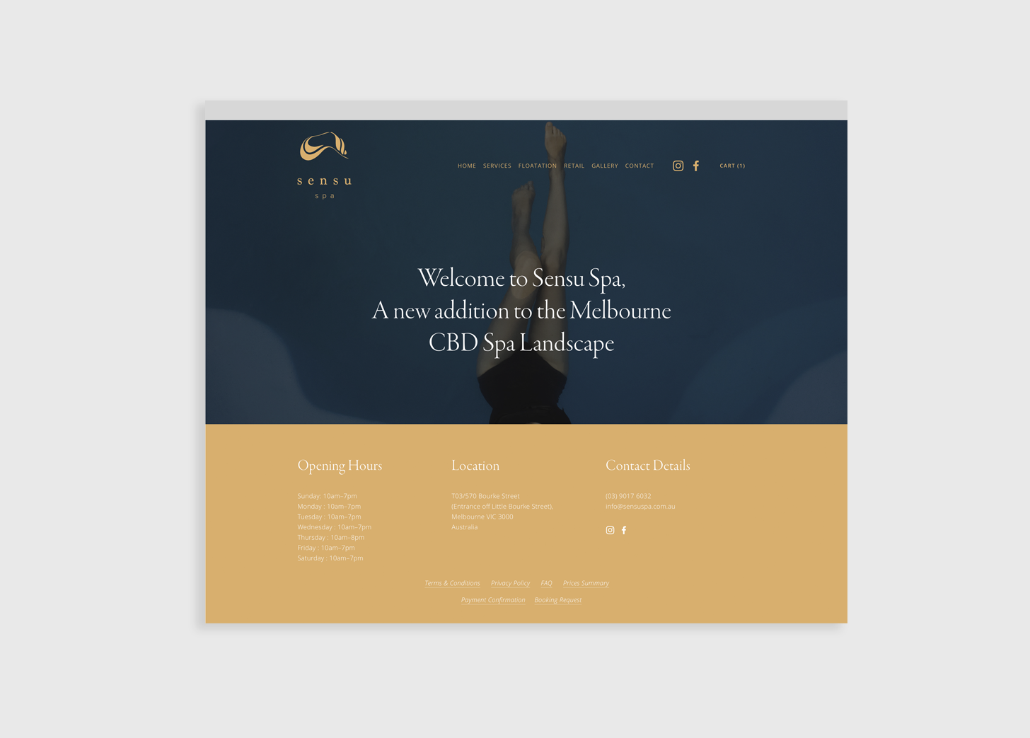 e-commerce website design and development for day spa