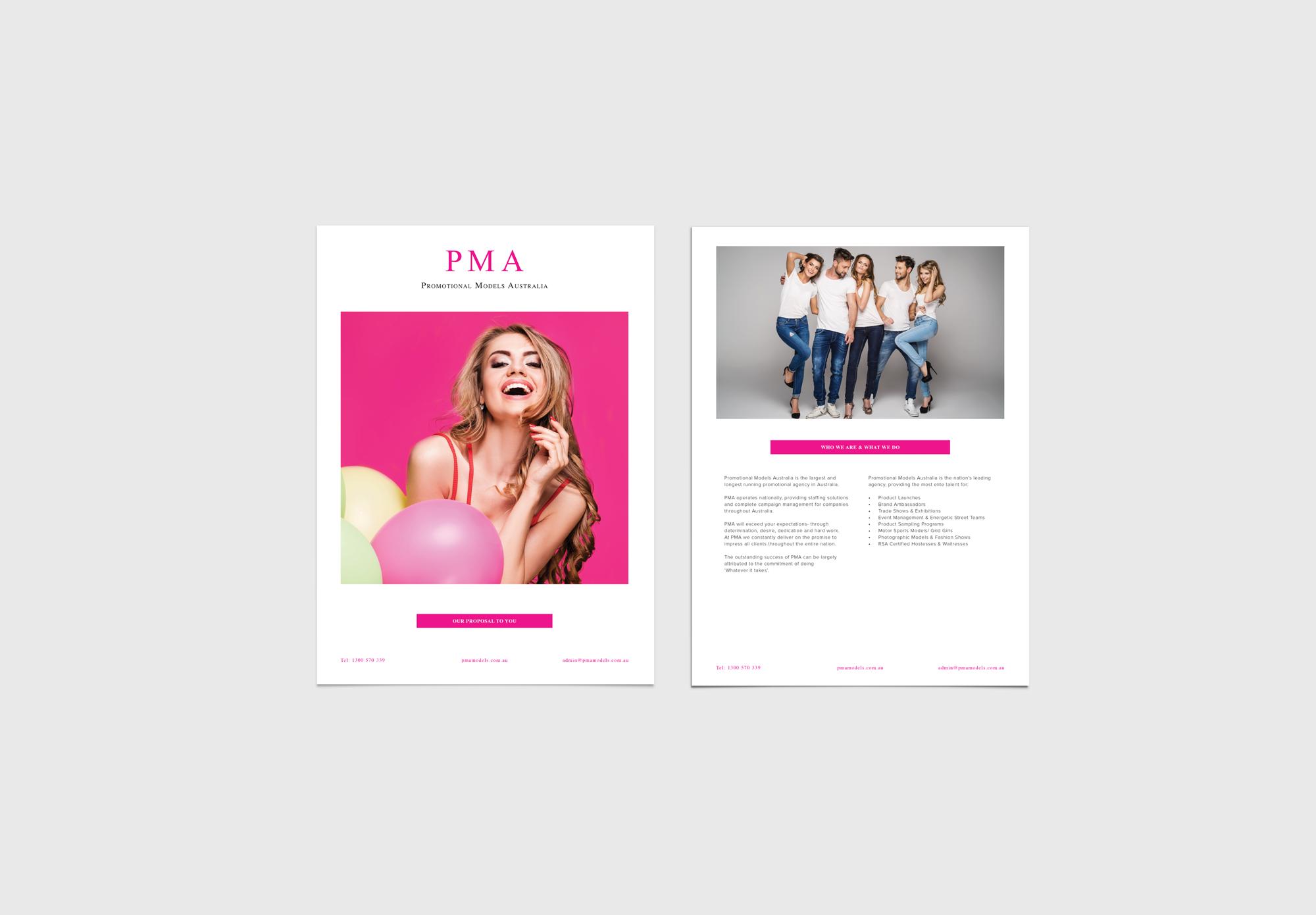 promotional model brand design