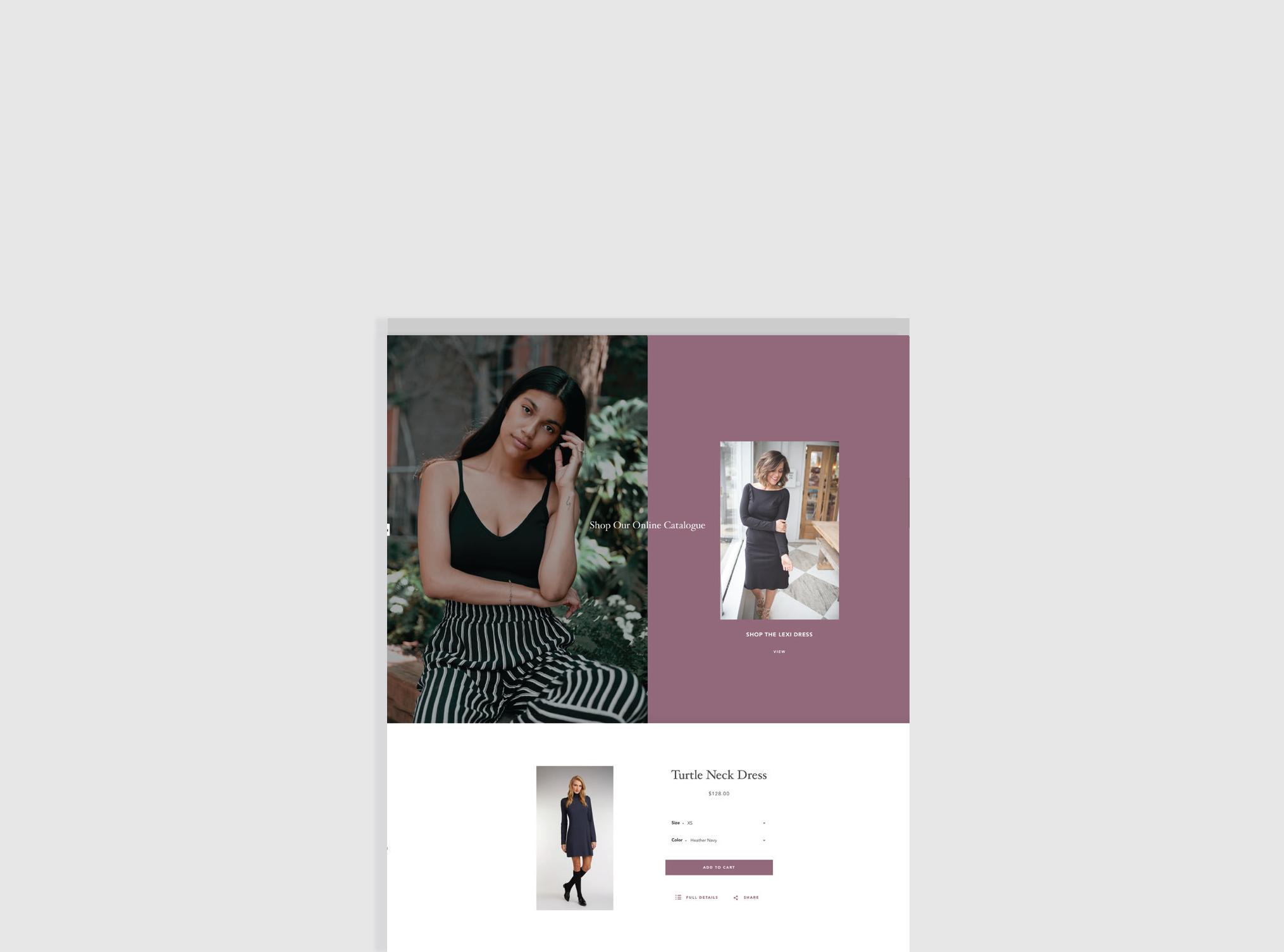 Shopify e-commerce website design