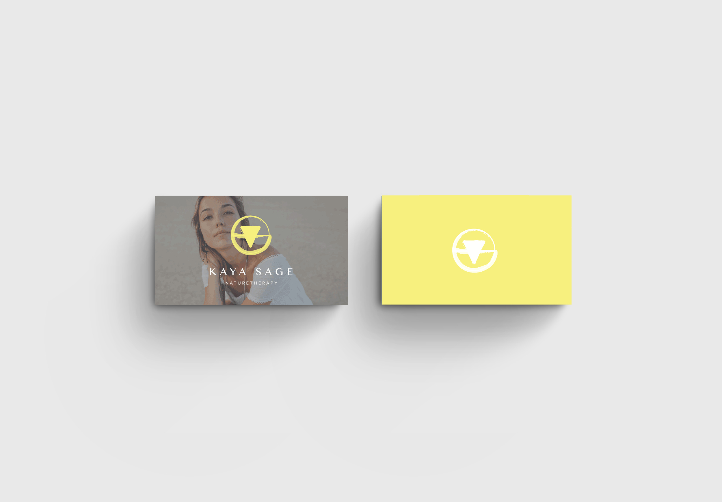 business card design for health brand