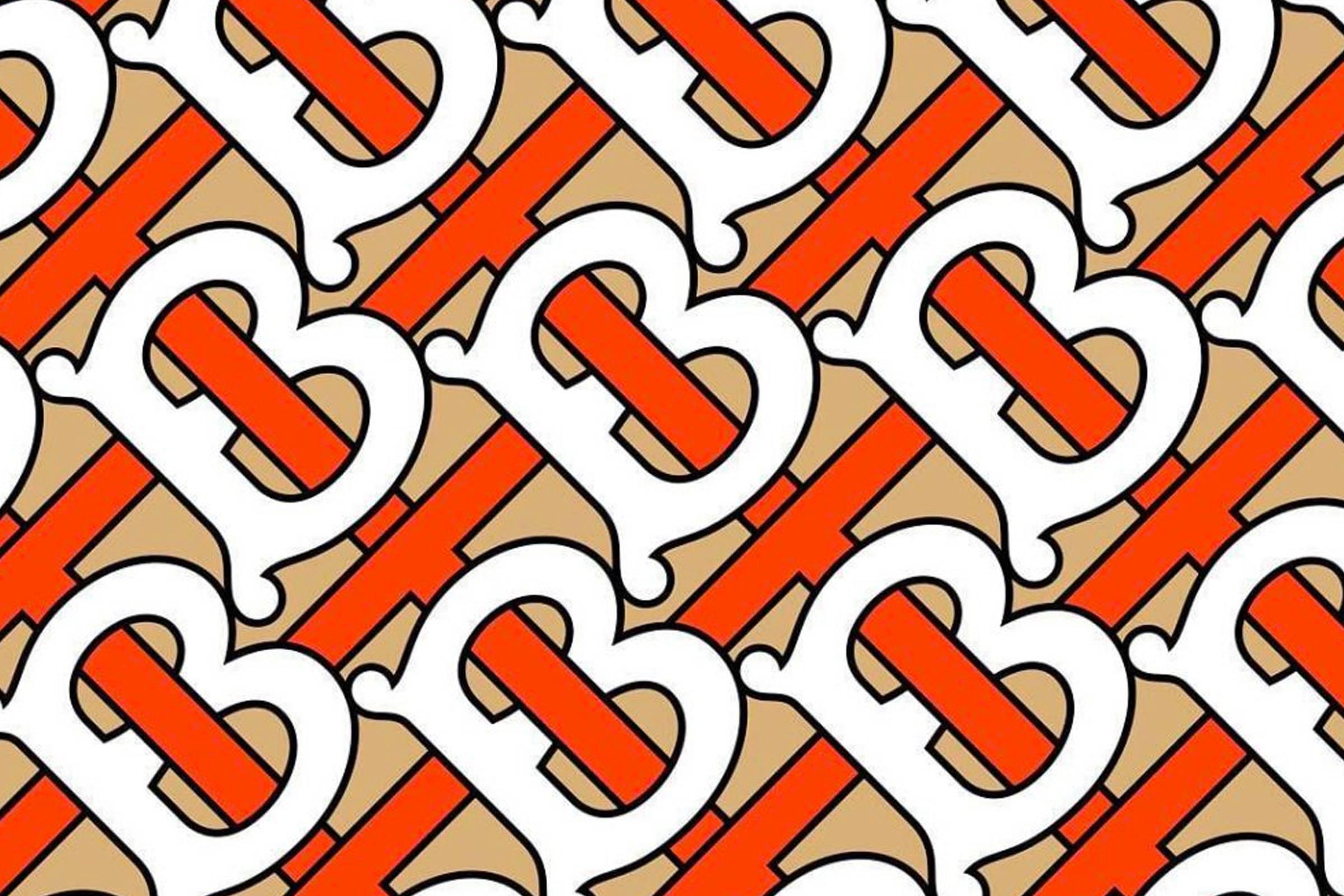 Peter Saville Burberry Monogram - Pic via grailed.com