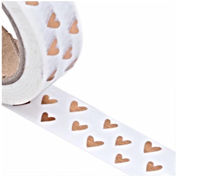 washi heart stickers