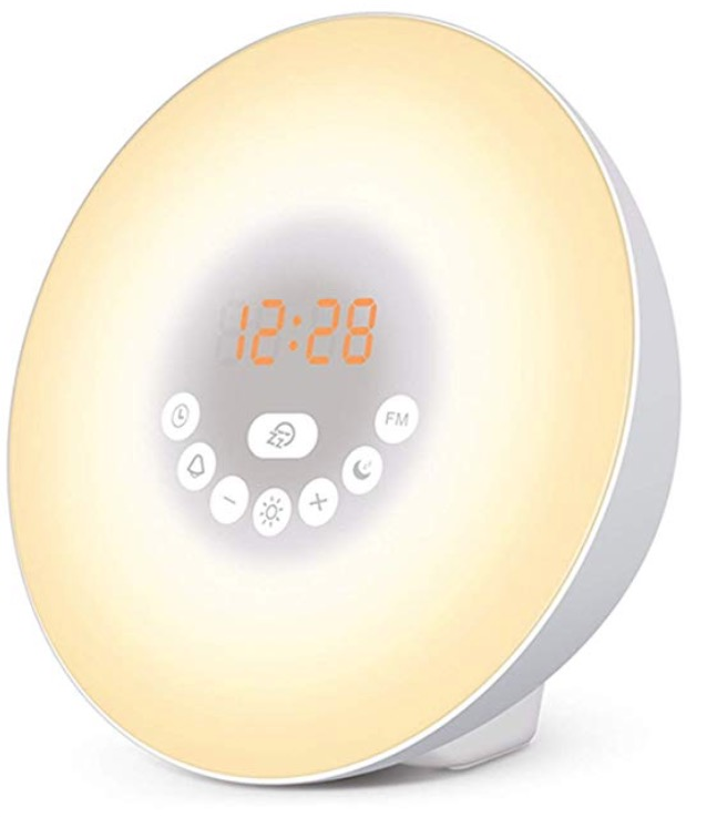 sunrise alarm clock (phone out of bedroom)