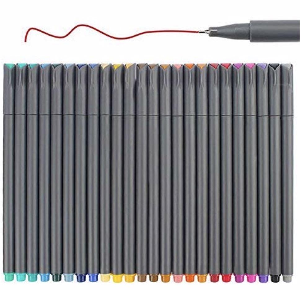 super glide coloured pens